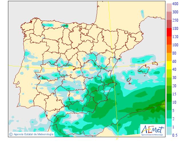 Nueva alerta amarilla por tormentas este lunes en Granada