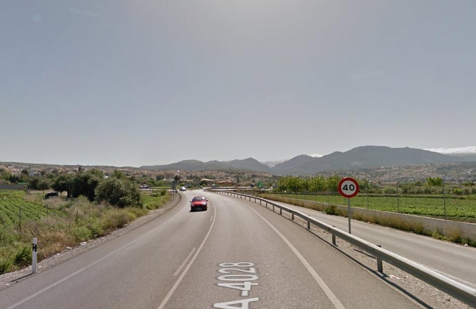 Izquierda Unida denuncia «falta de seguridad» en la A-4028, la carretera que une Granada con la Mancomunidad del Río Monachil