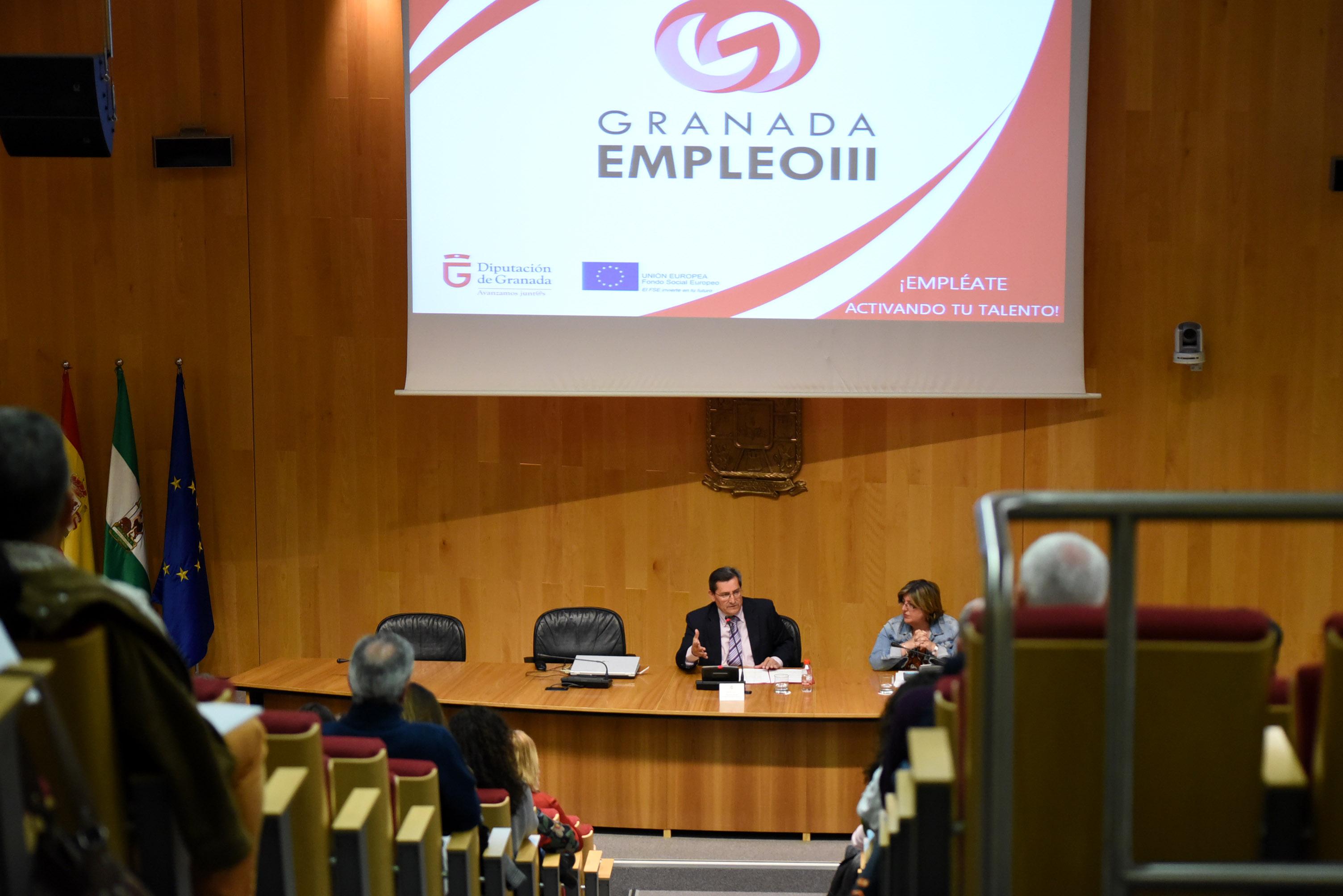 Entrena pide a los municipios su colaboración para el desarrollo del programa Granada Empleo III