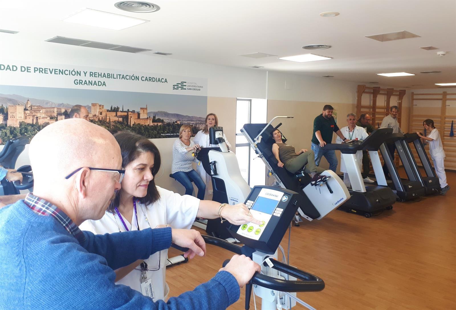 La Unidad de Rehabilitación Cardíaca del San Cecilio, acreditada por la Sociedad Española de Cardiología