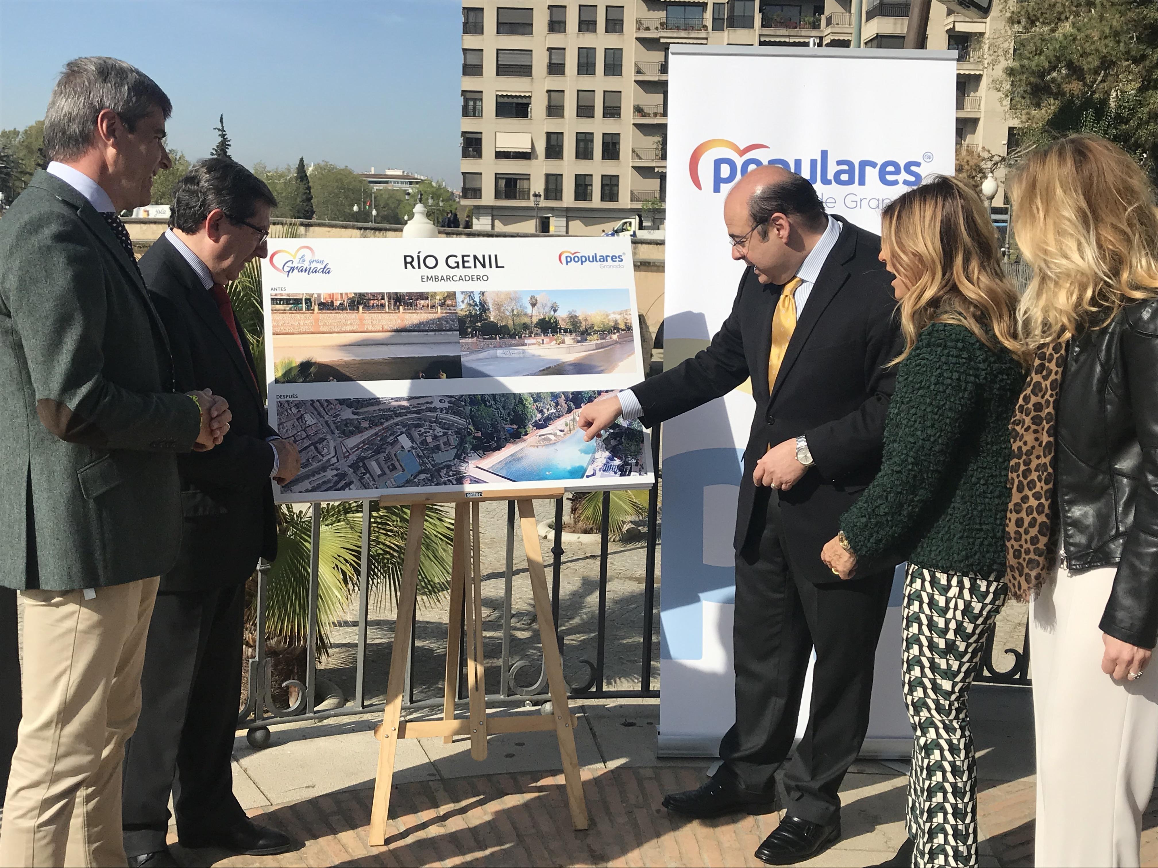 Sebastián Pérez promete una actuación integral en cuatro tramos del río Genil para promover actividades deportivas y de ocio