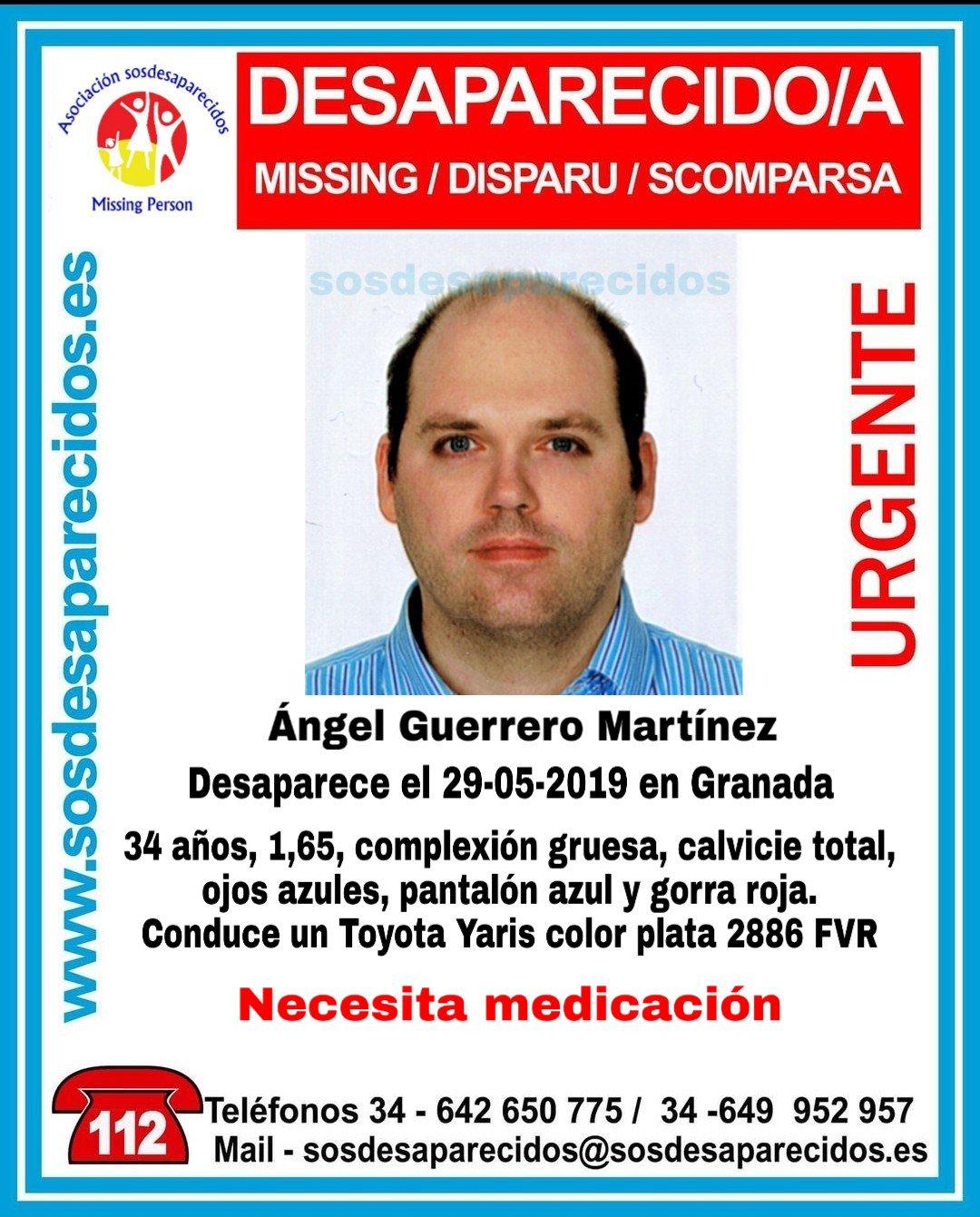 La Policía pide ayuda para encontrar a un hombre desaparecido en Granada