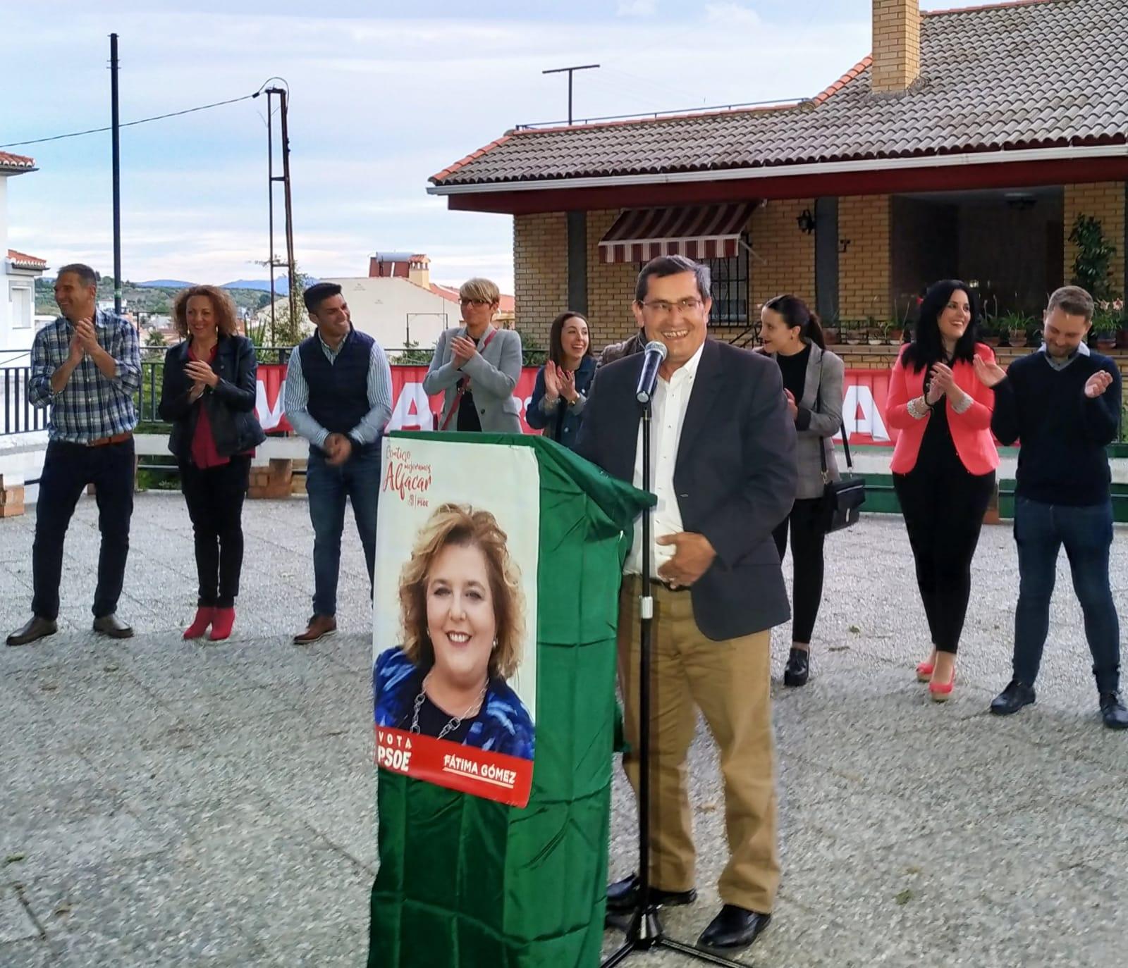 """#26M: Entrena pide una amplia mayoría socialista en Alfacar para seguir consolidando """"un proyecto de futuro y bienestar, sin bloqueos"""""""