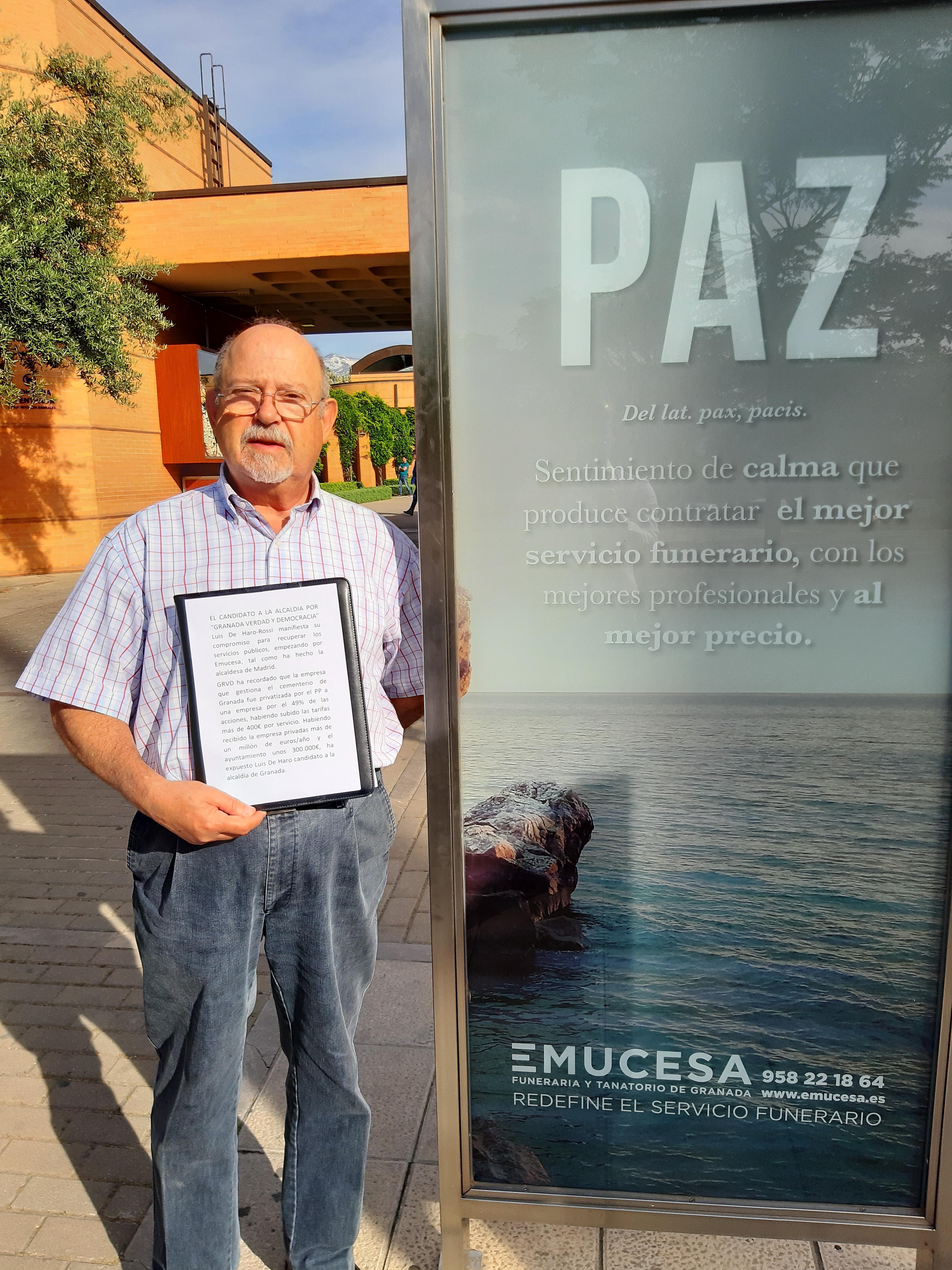 # 26M: Luis de Haro se compromete con la remunicipalización de EMUCESA