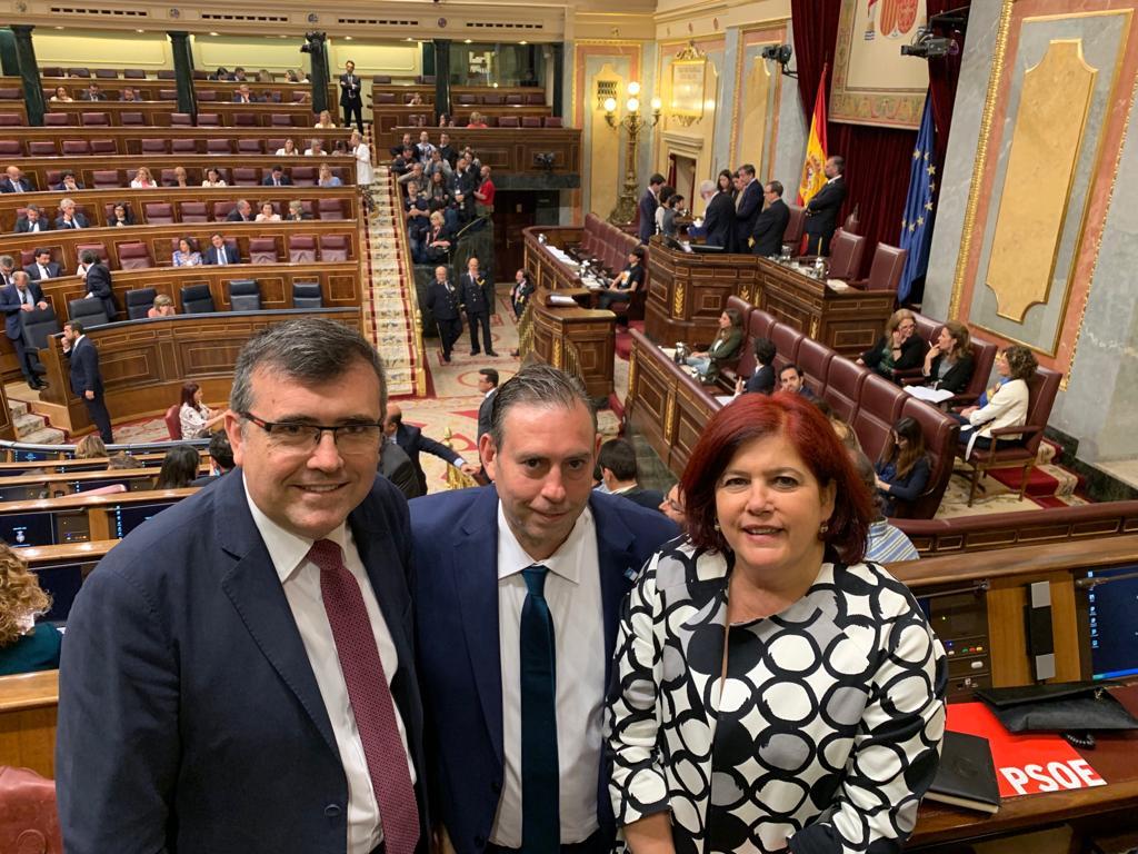 """Diputados y senadores del PSOE toman posesión """"dispuestos a ser altavoz y defender las reivindicaciones de la provincia en Madrid"""""""