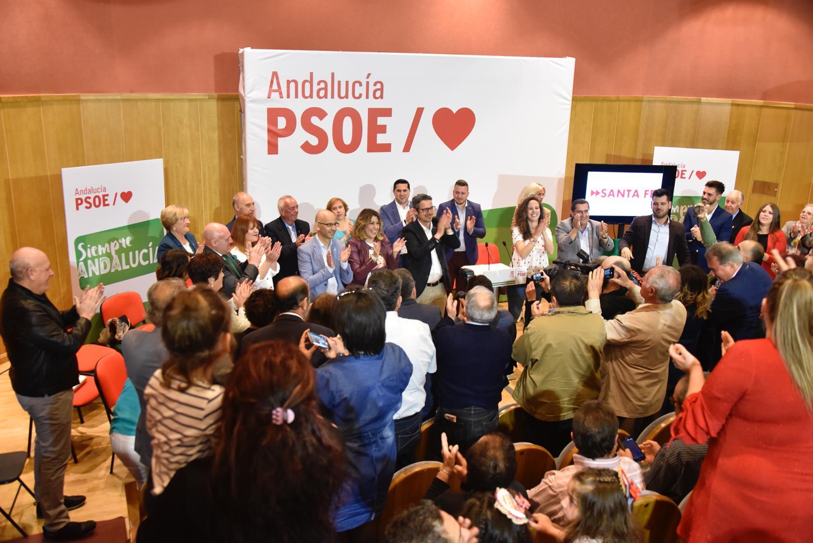 #26M: Susana Díaz afirma que «Andalucía es de izquierdas» en un mitin en Santa Fe