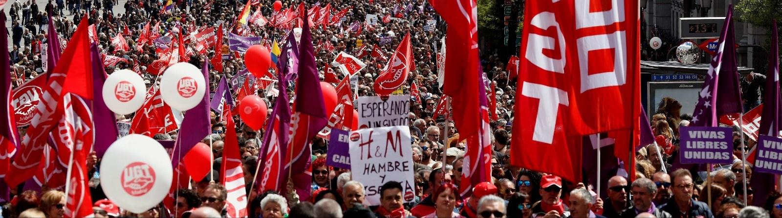 Los sindicatos centran el 1 de mayo en el clamor contra la consolidación del precariado