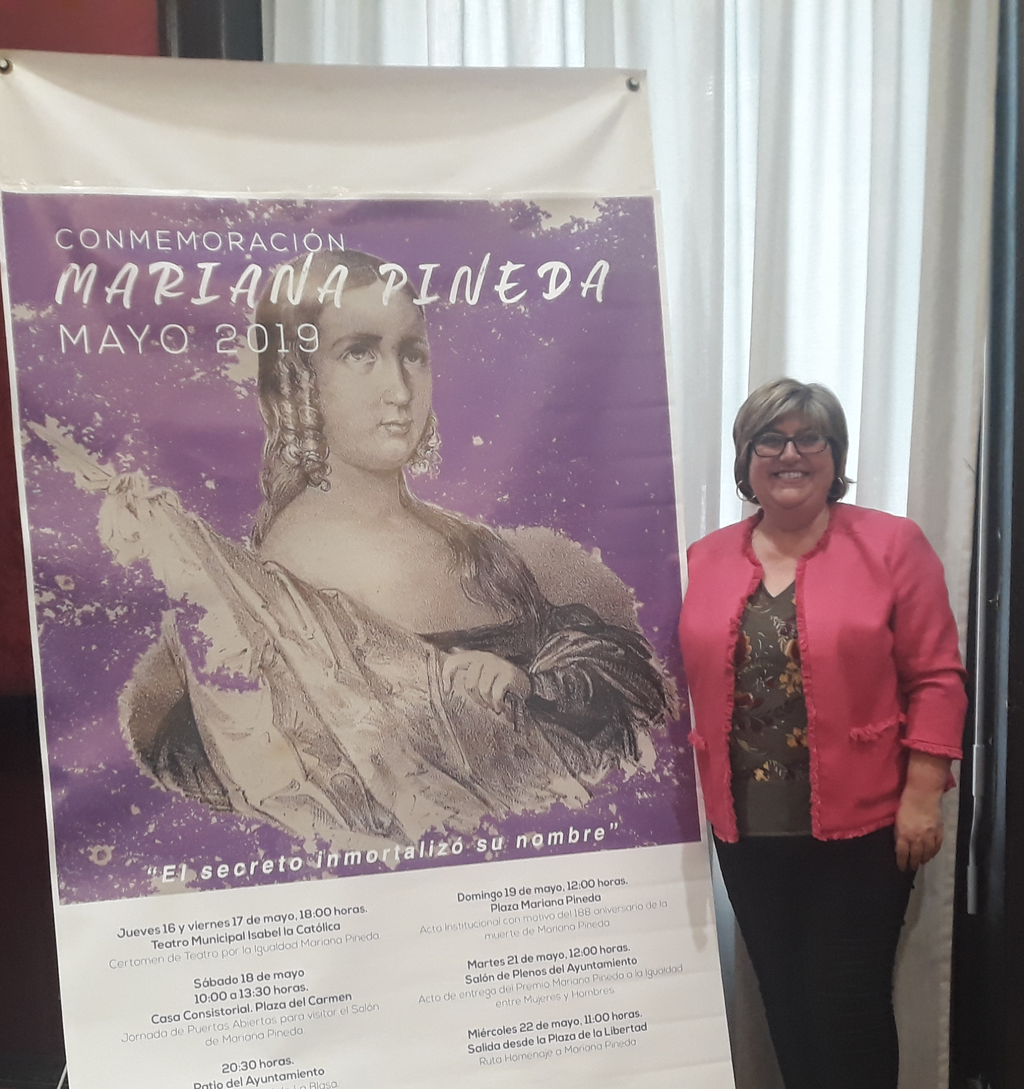El acto conmemorativo a Mariana Pineda, granadina y luchadora, se celebrará el 19 de mayo