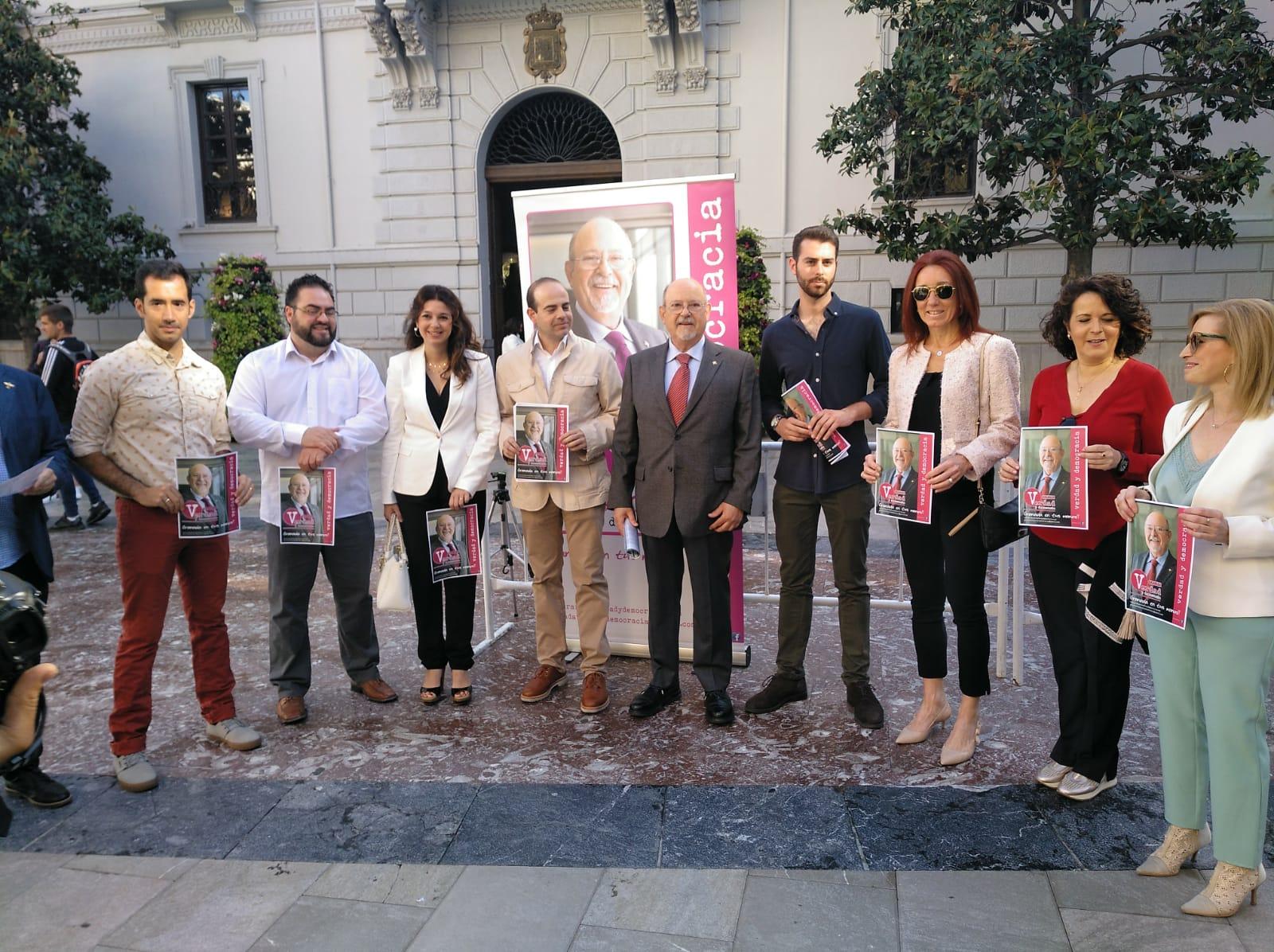 #26M: Luis de Haro presenta Granada, Verdad y Democracia, la candidatura con la que concurre a las municipales