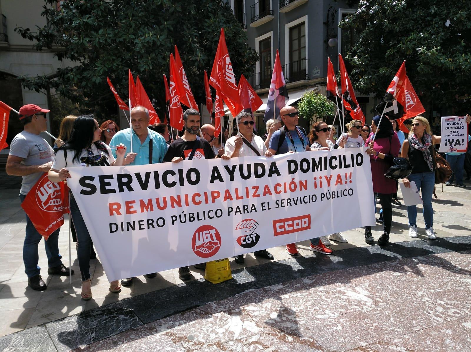 UGT denuncia «el olvido» del Ayuntamiento hacia los trabajadores de la ayuda a domicilio