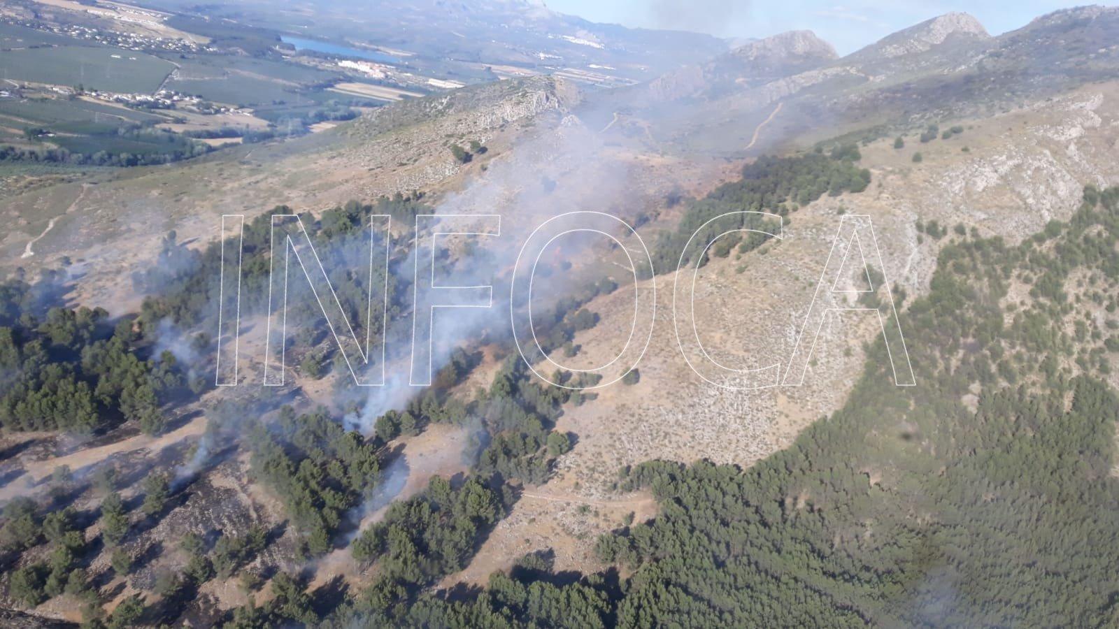 Controlado el incendio forestal de Sierra Elvira y extinguido otro en Busquístar