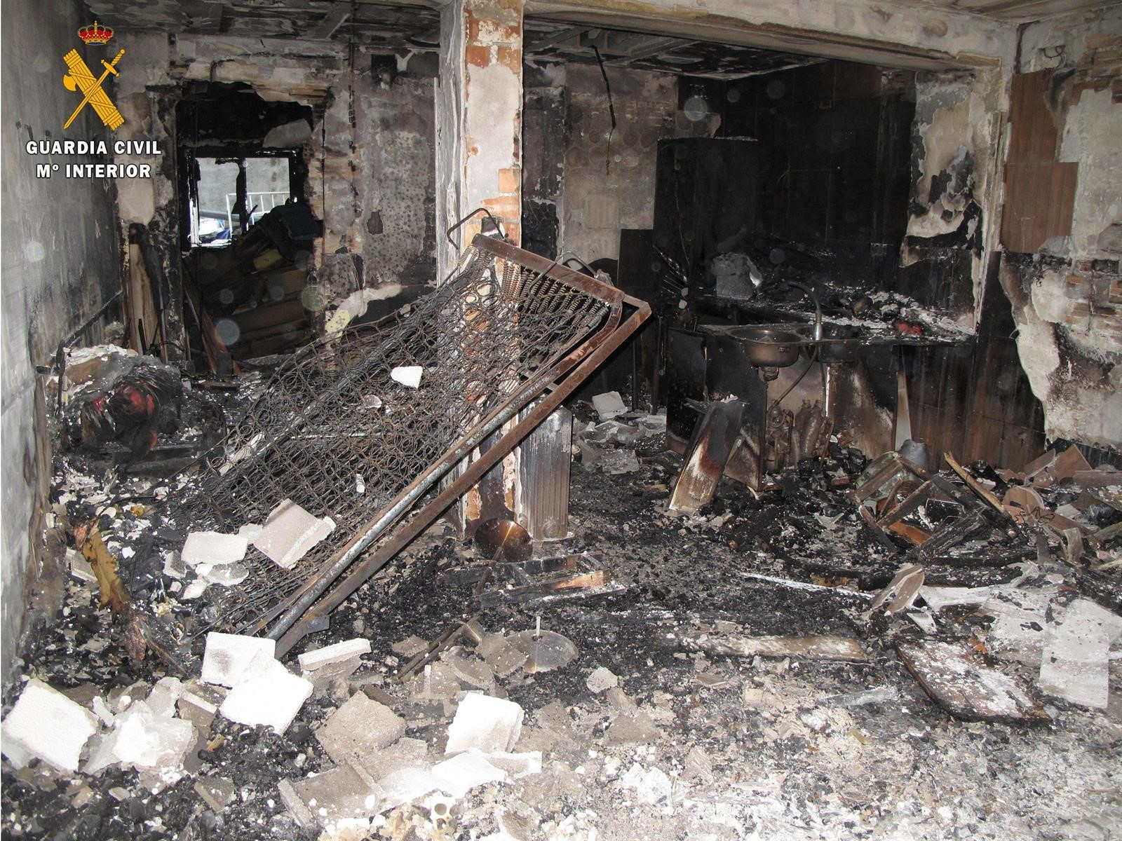 Detenidos los autores del robo y posterior incendio de una vivienda en Albolote