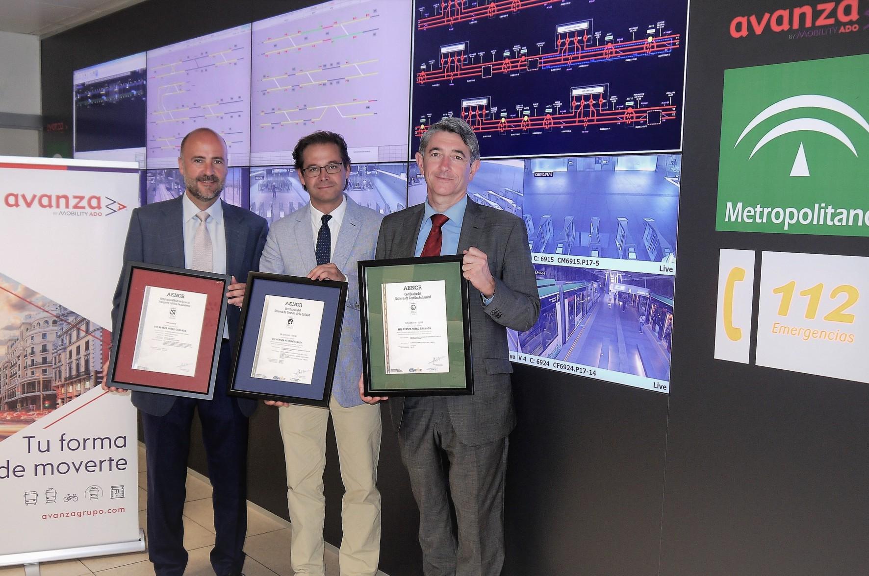 El metro obtiene el certificado Aenor de calidad en el transporte de viajeros
