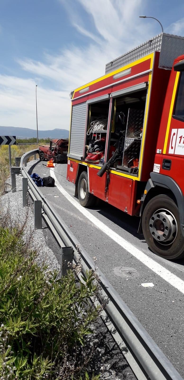Cuatro heridos en un accidente de tráfico en Iznalloz