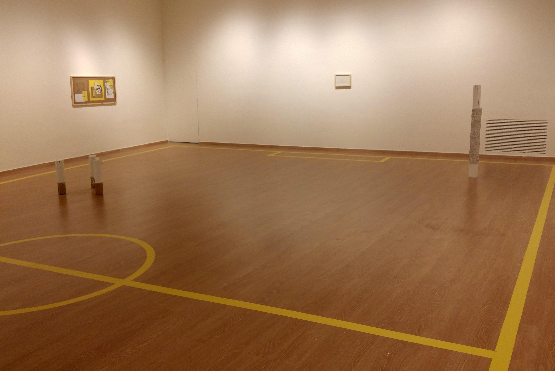 Un joven artista transforma la Sala Ático en una pista deportiva