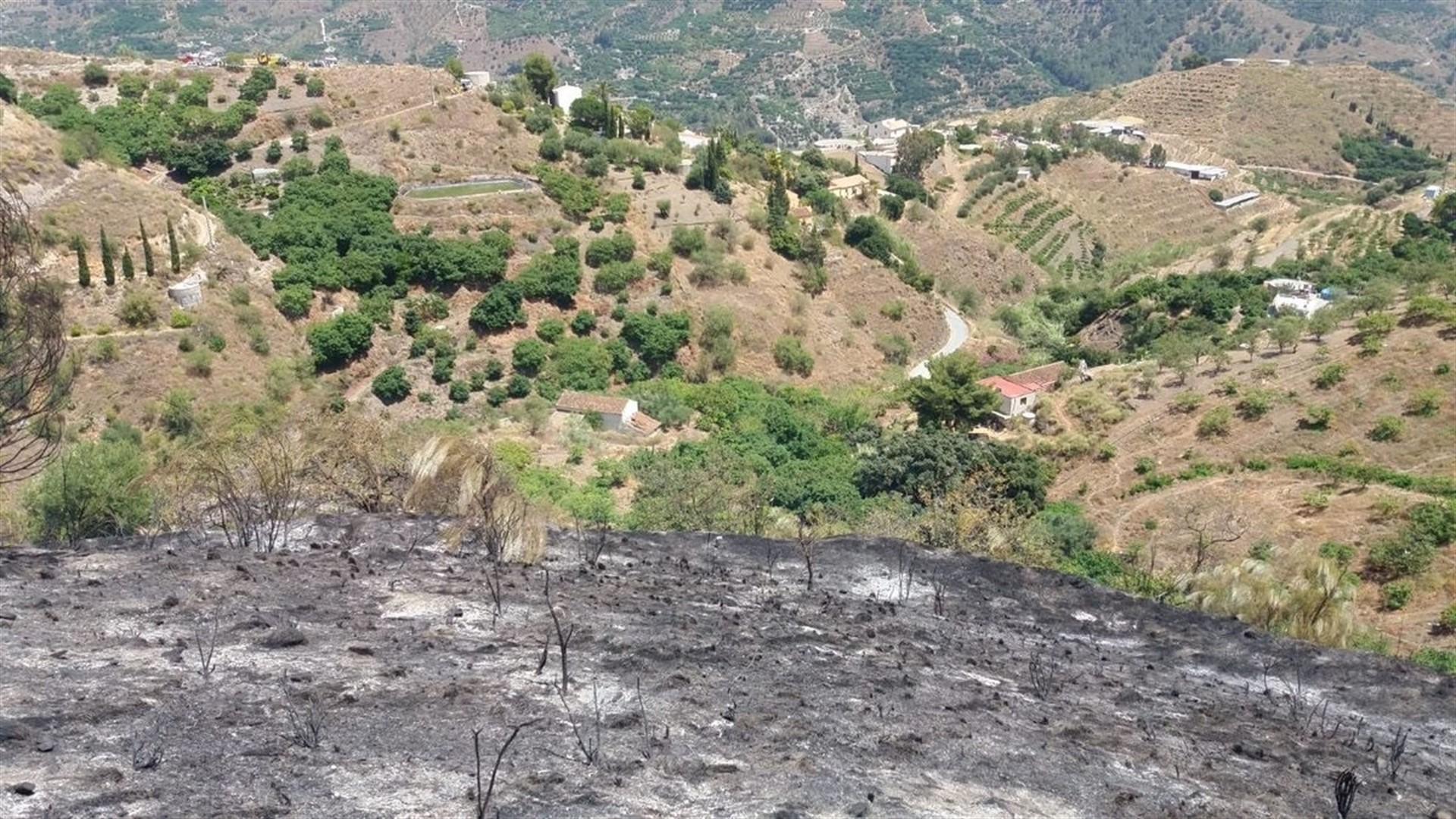 Extinguido el incendio forestal declarado en un paraje de Almuñécar