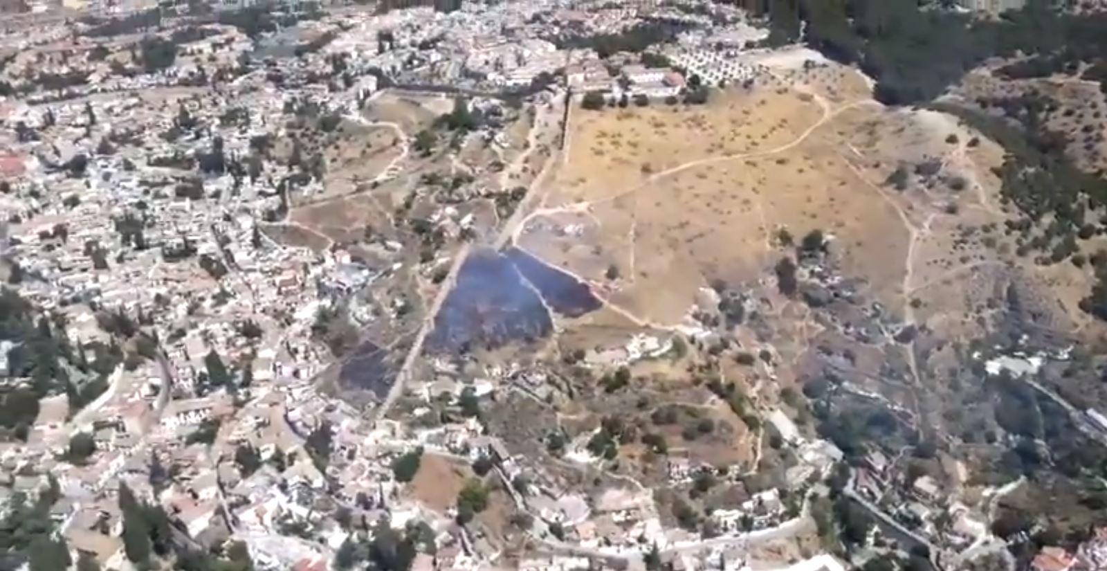Extinguido un incendio en el Cerro de San Miguel
