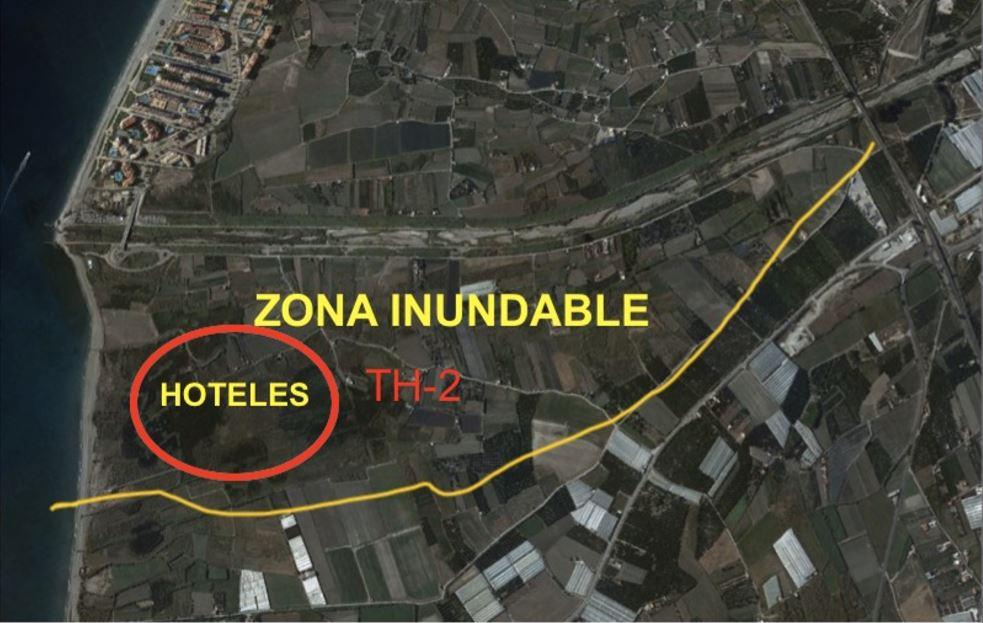 El TH-2 de Salobreña: un proyecto de construcción de seis hoteles de lujo en una parcela inundable