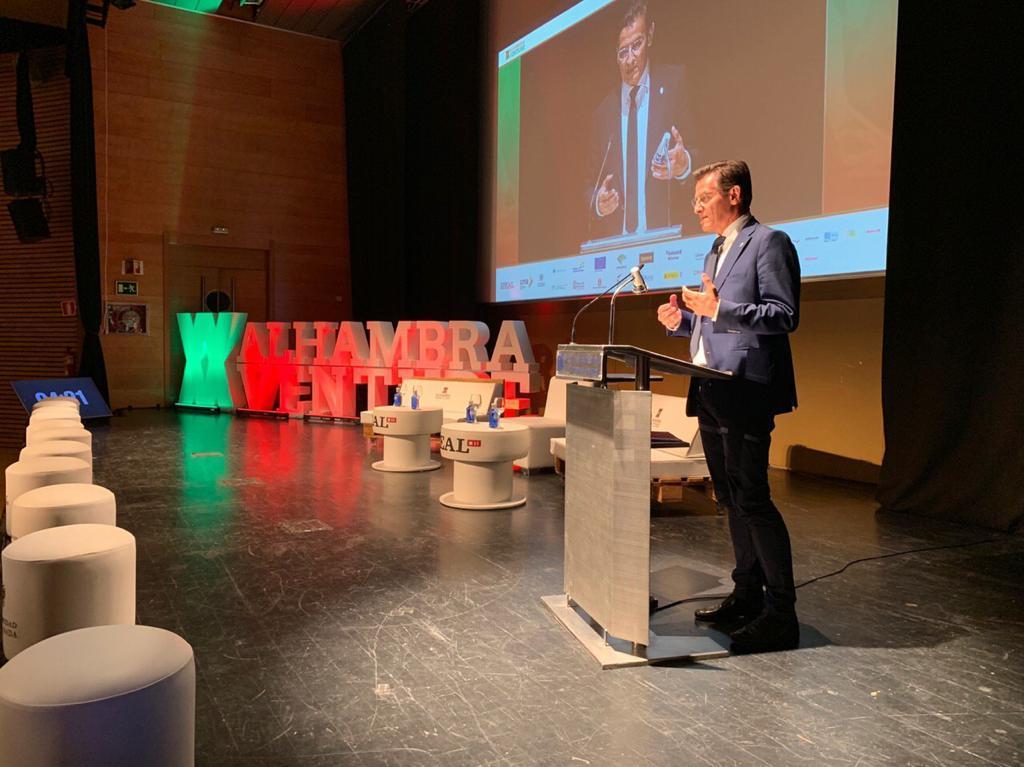 Salvador defiende el apoyo del Ayuntamiento al tejido empresarial en Alhambra Venture
