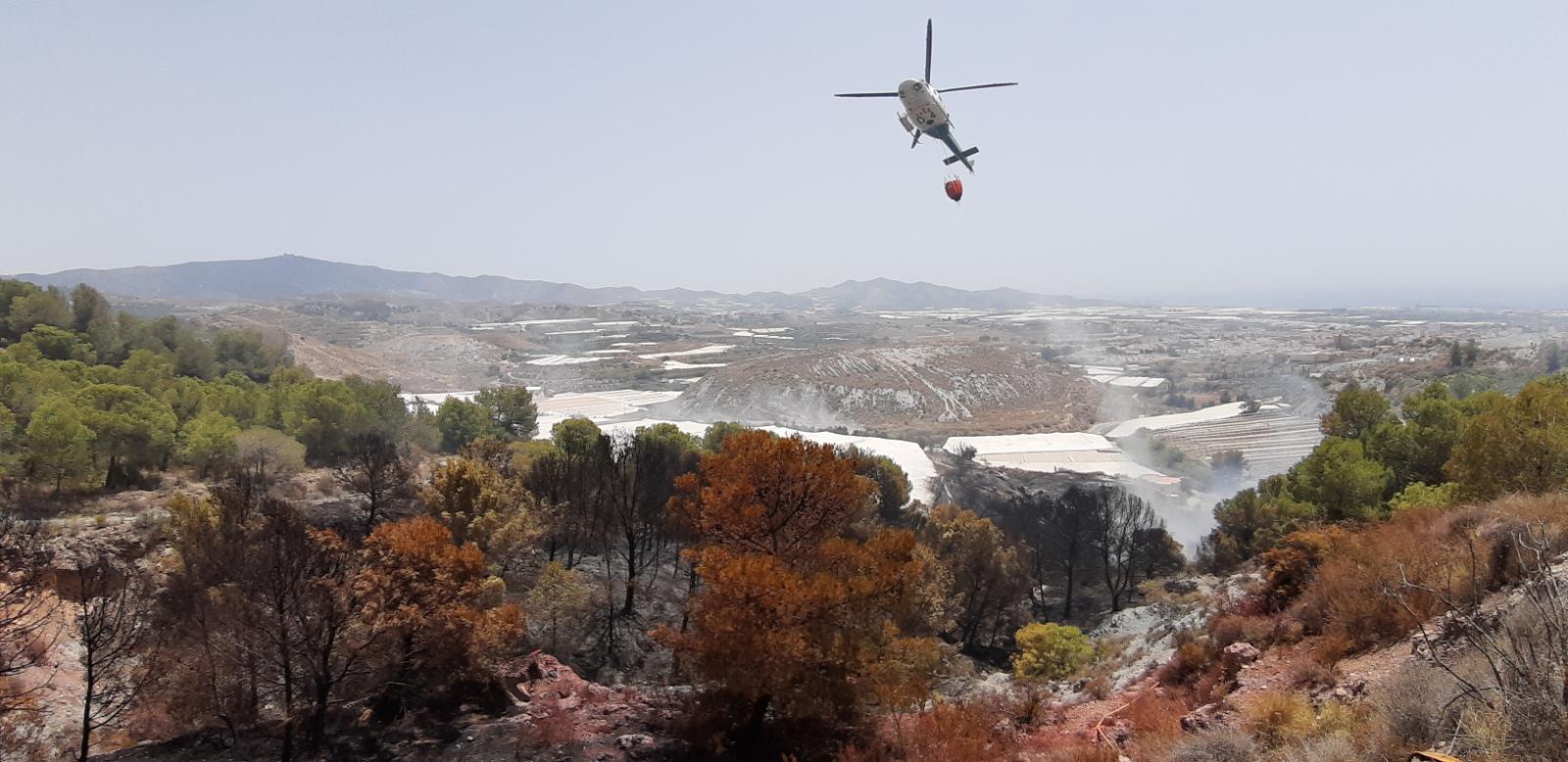 Dos personas investigadas como presuntas autoras de un incendio forestal en Motril