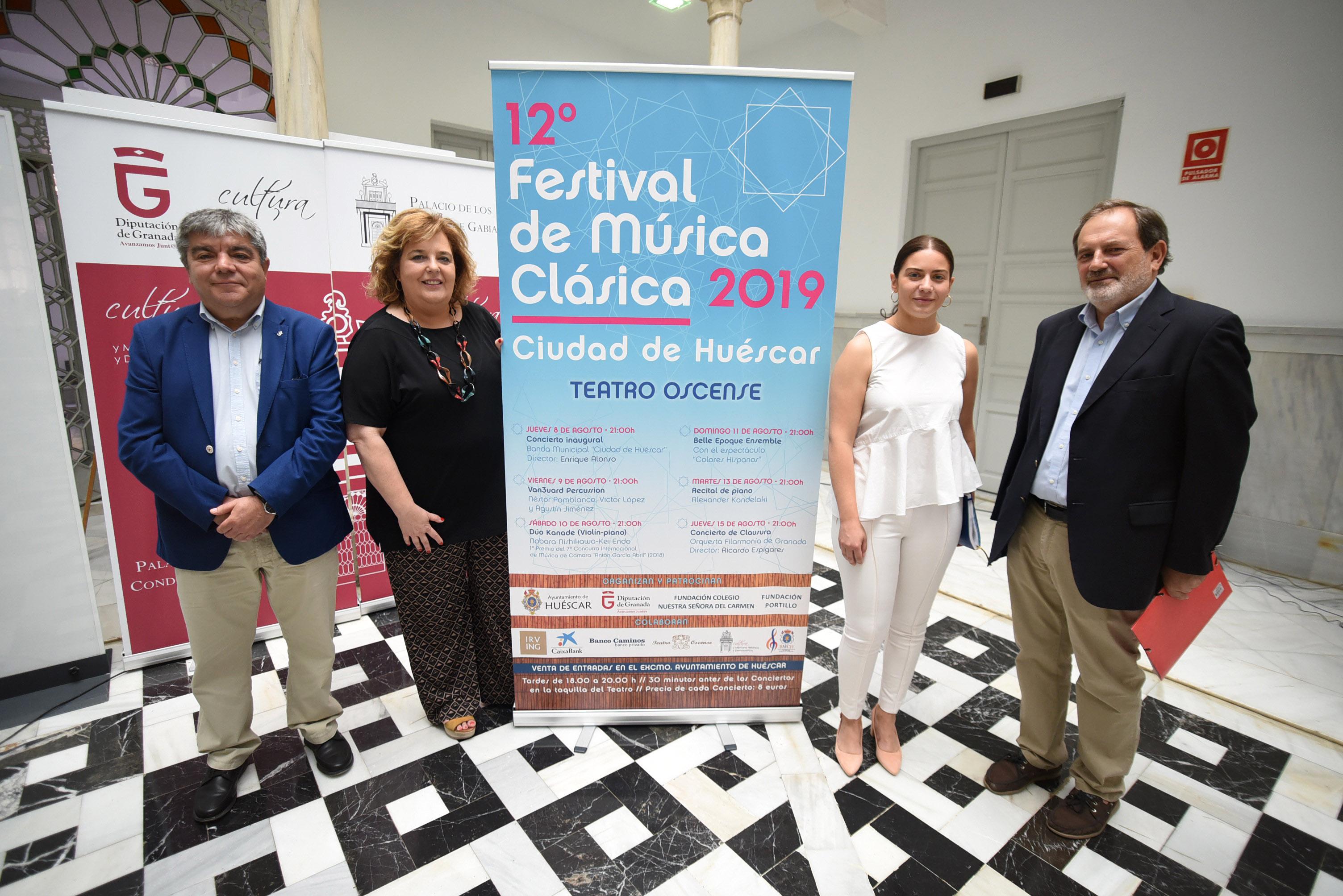 El Festival de Música Clásica Ciudad de Huéscar ofrece seis conciertos de estilo clásico y contemporáneo