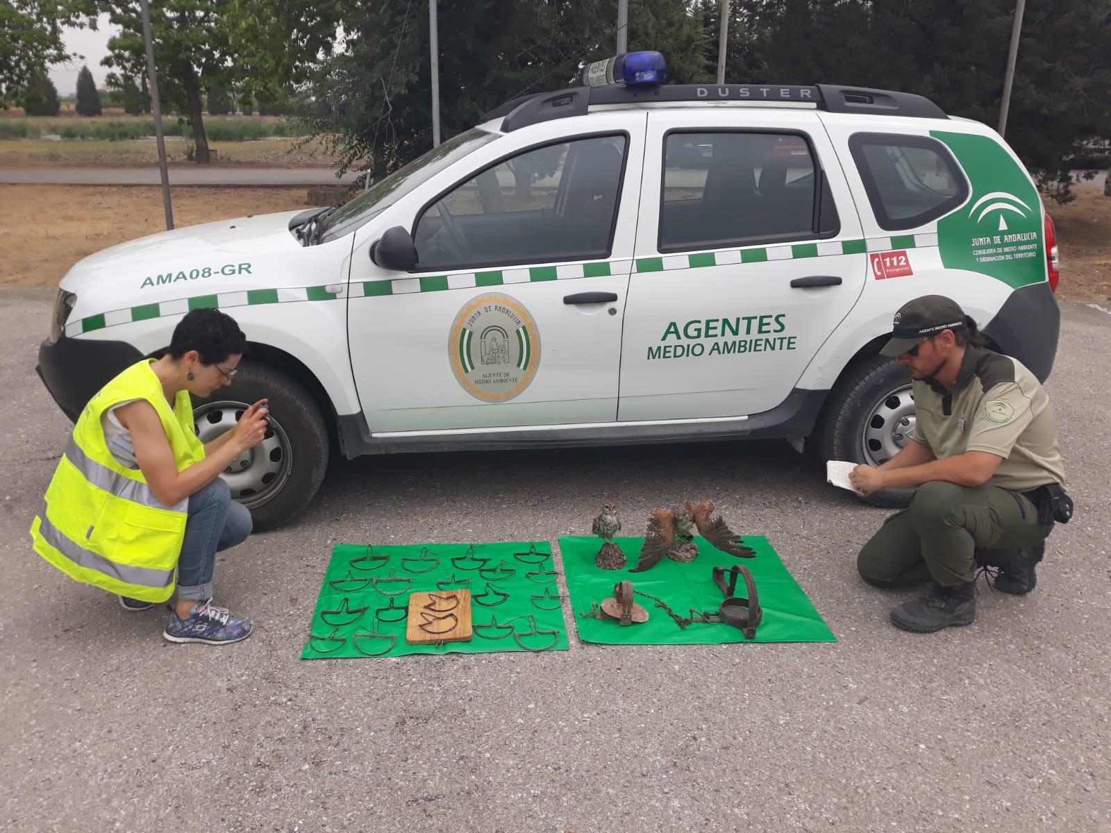 Agentes de Medio Ambiente decomisan en La Zubia diversas artes de caza prohibidas