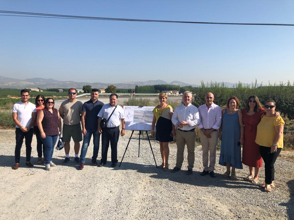 Diputación inicia las obras de la glorieta que completará la circunvalación de Chauchina