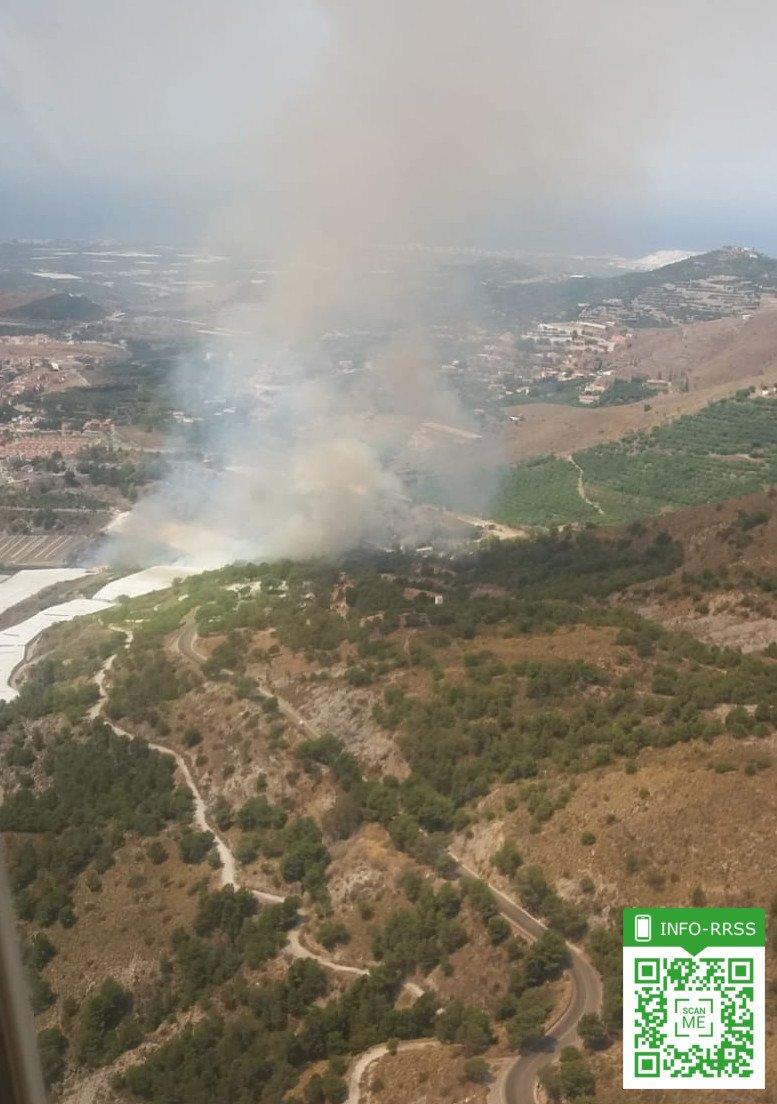 Extinguido el incendio forestal declarado el sábado en Motril