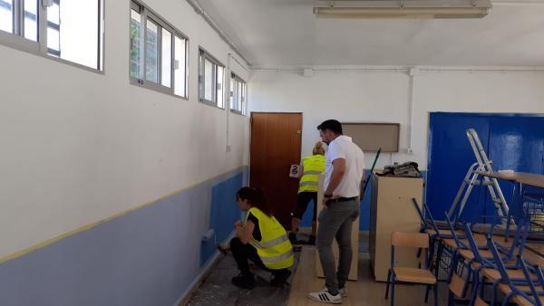 Vegas del Genil ejecuta obras de mejora en todos los colegios de la localidad