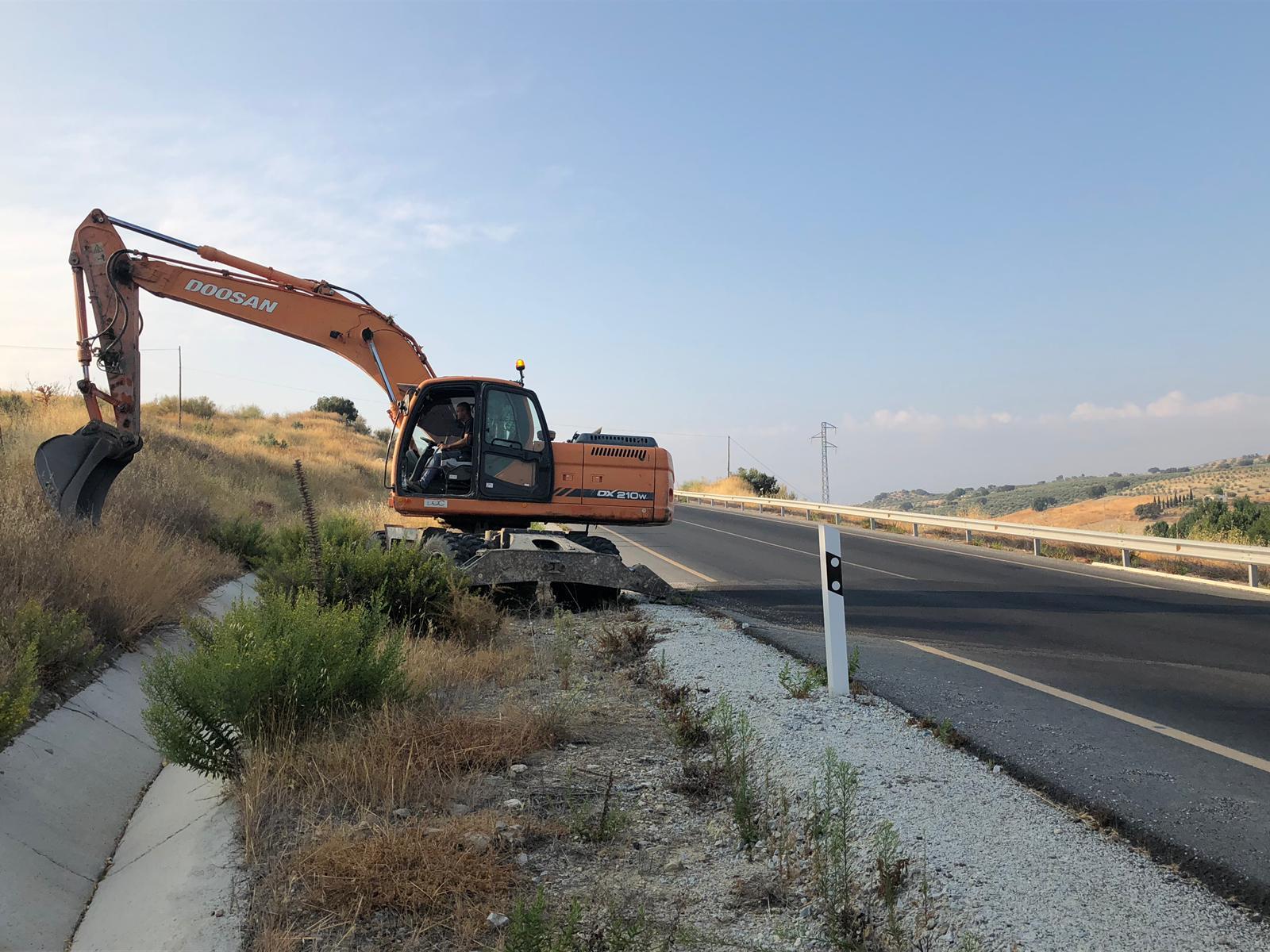 Comienzan las obras de reparación de la carretera que une Santa Cruz del Comercio y Alhama