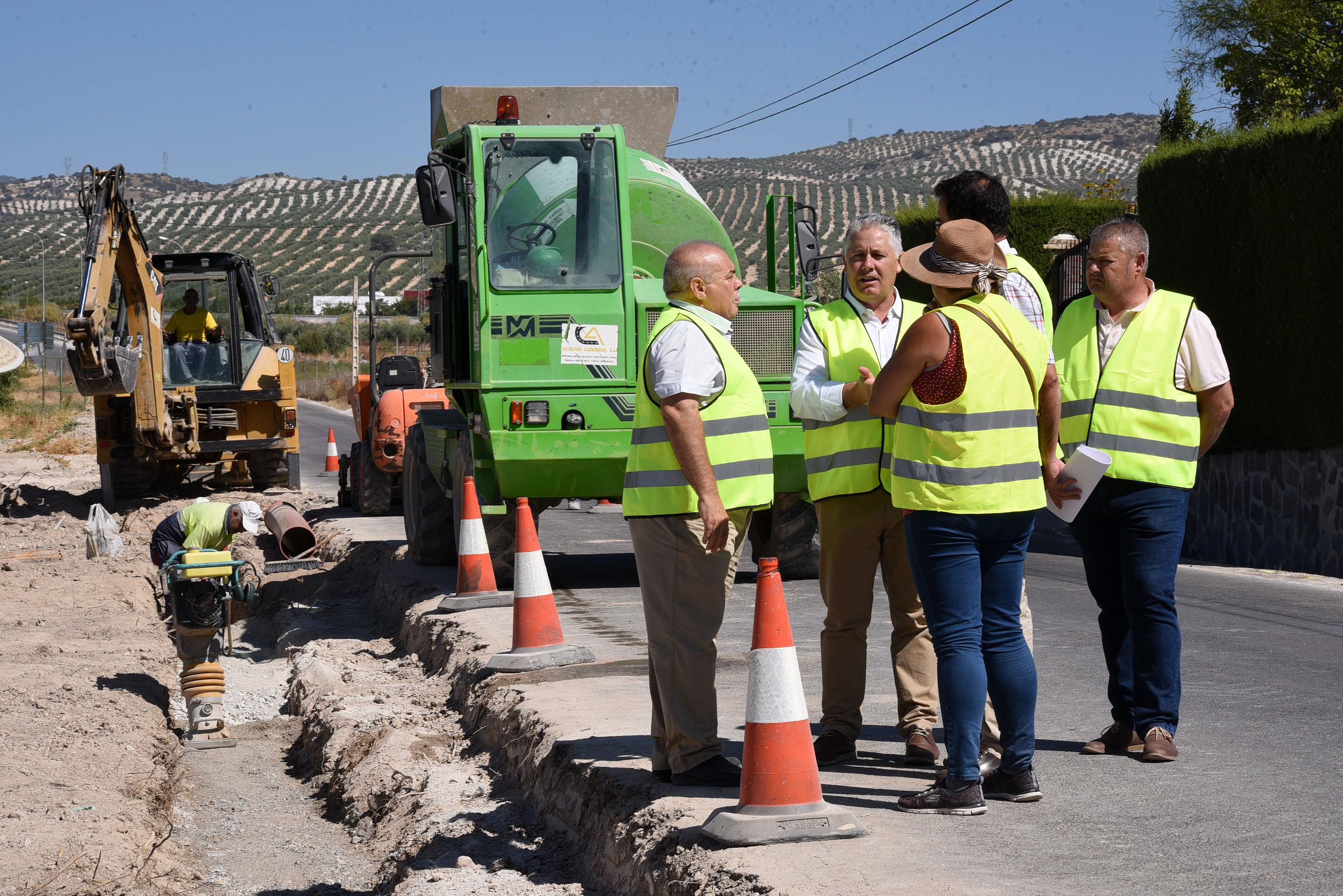 La Diputación invierte más de 130.000 euros en una de las vías de entrada a Valderrubio