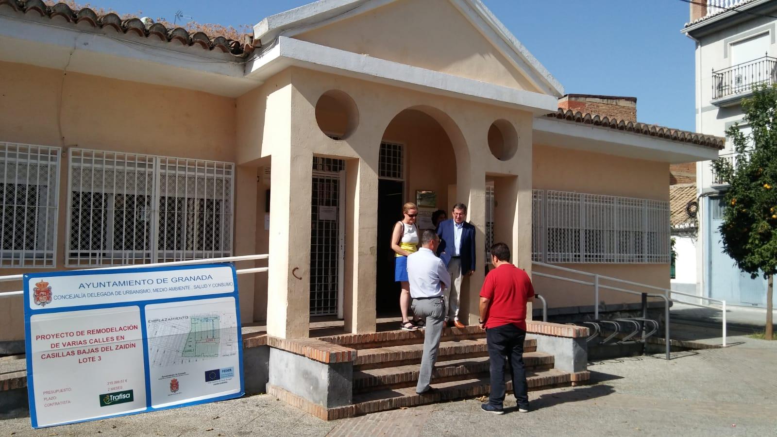 Avanzan a buen ritmo las obras de remodelación interior de la biblioteca de Las Palomas