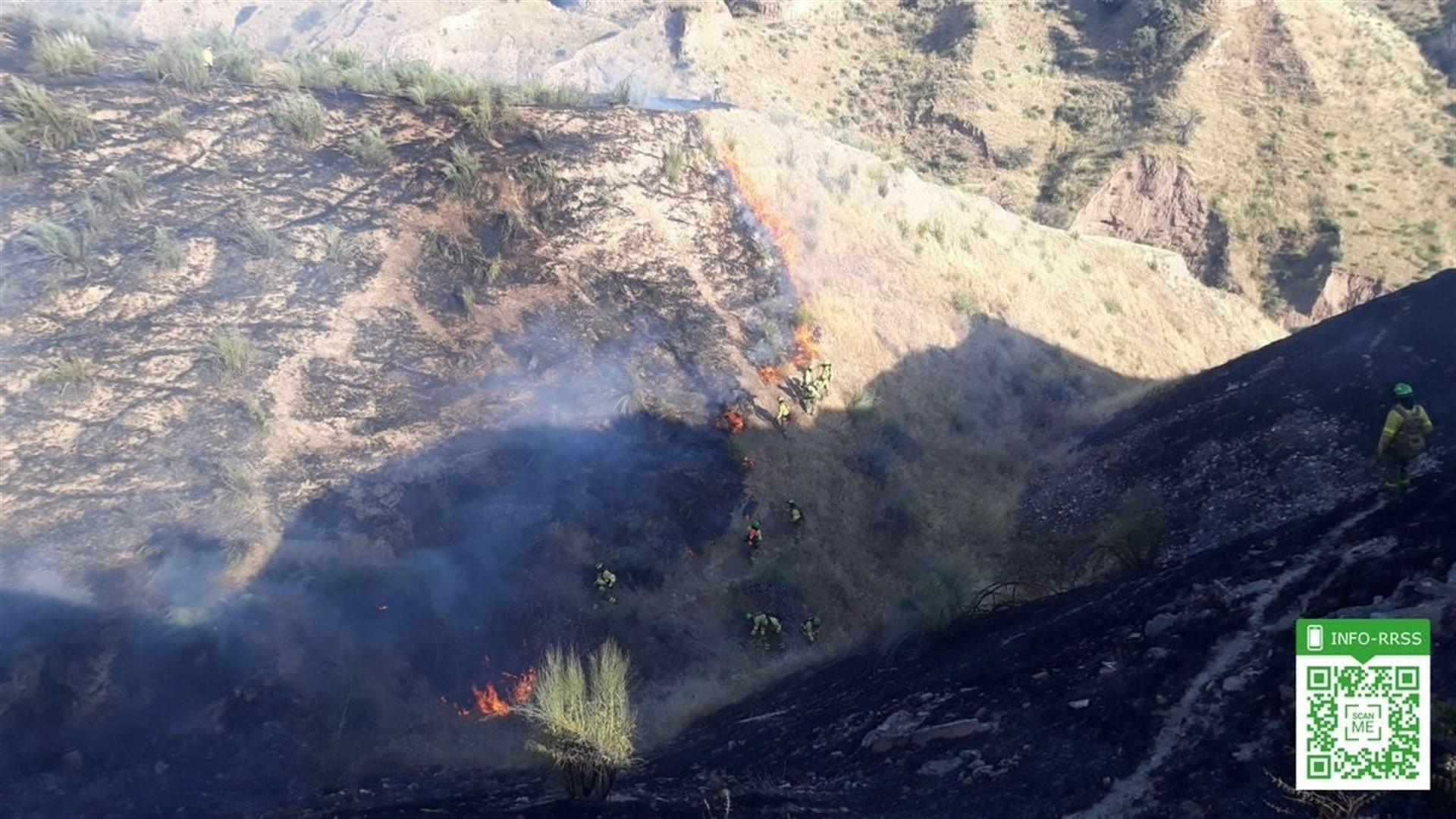 Estabilizado el incendio de Pinos del Valle