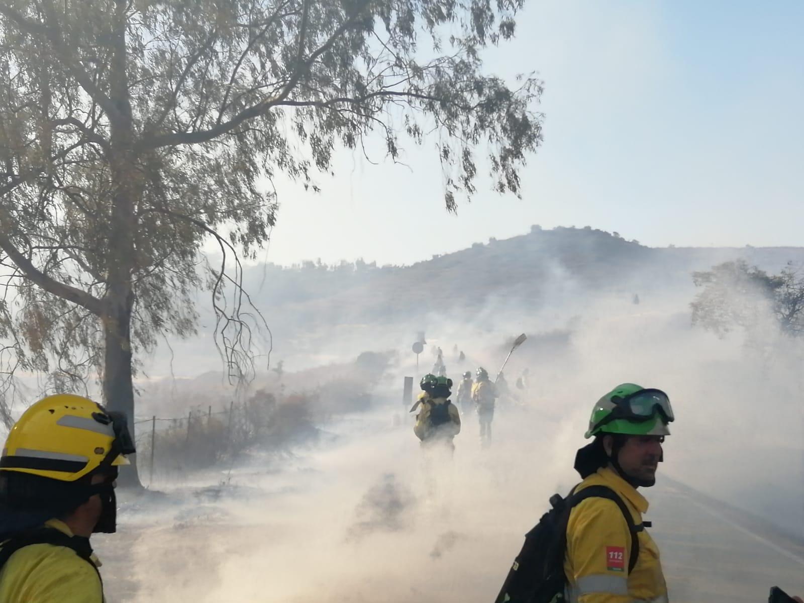 Declarado un incendio cercano a Huéneja