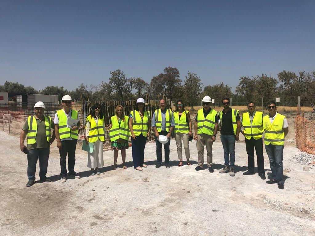 Avanzan a buen ritmo los trabajos en la construcción de la depuradora en Zújar