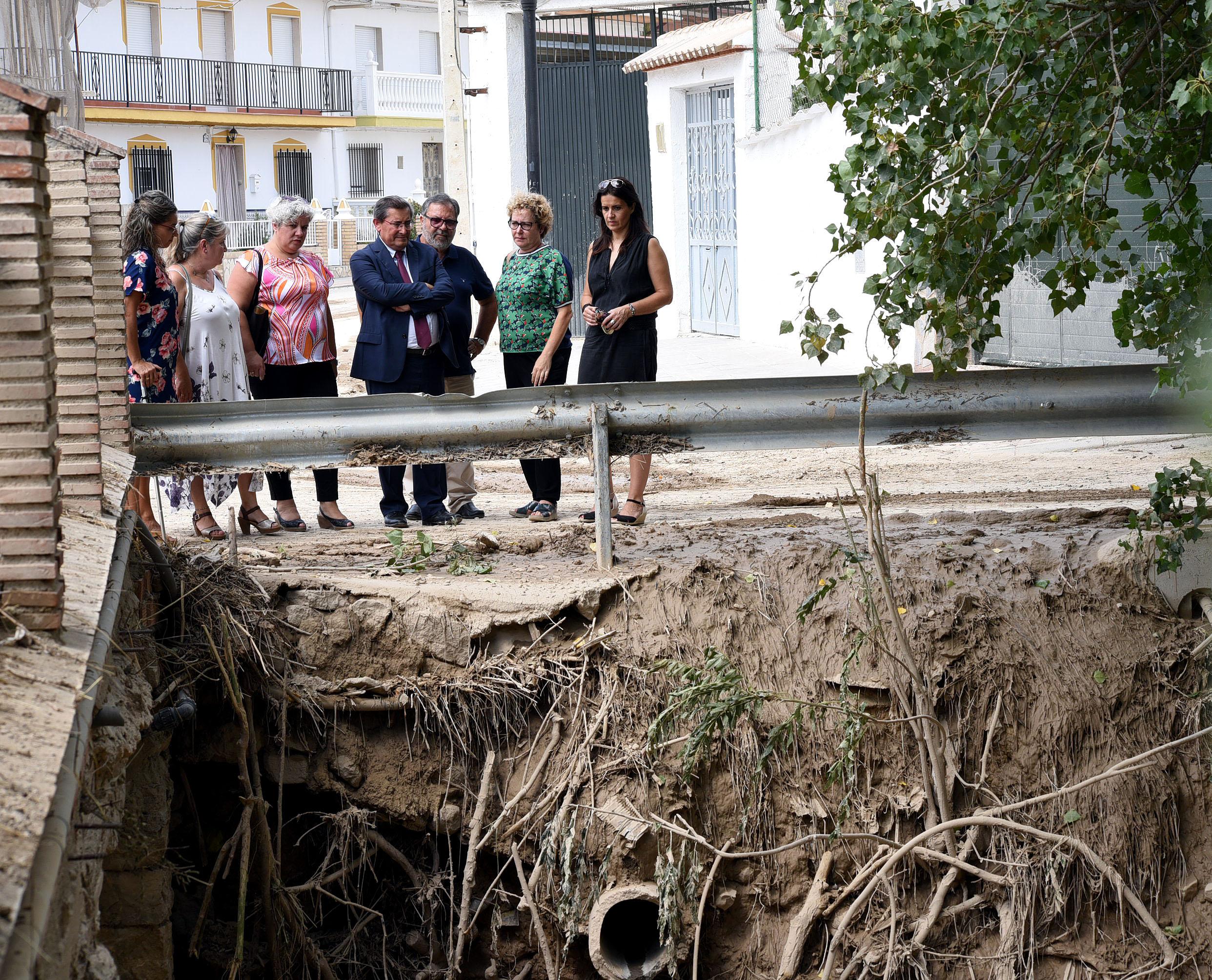 La Diputación promete ayudas para los municipios dañados por las inundaciones