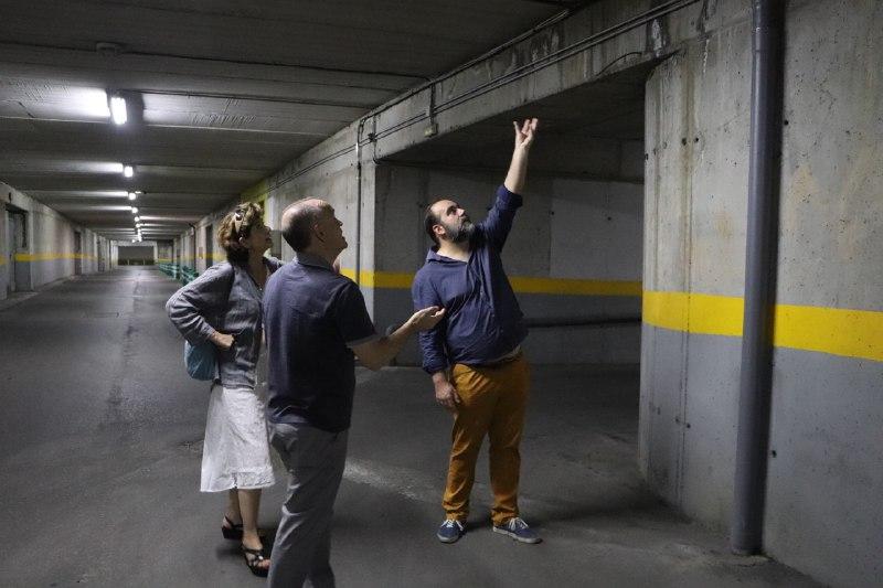 Podemos-IU exige una solución a las filtraciones de agua en los garajes subterráneos de San Lázaro