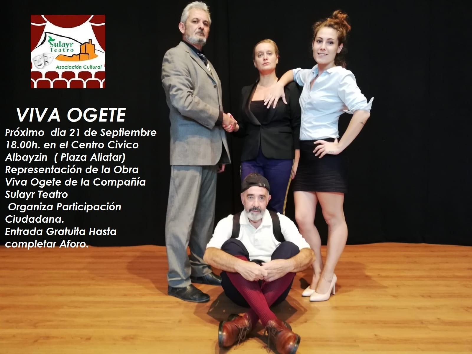 Sulayr Teatro estrena su última producción, Viva Ogete