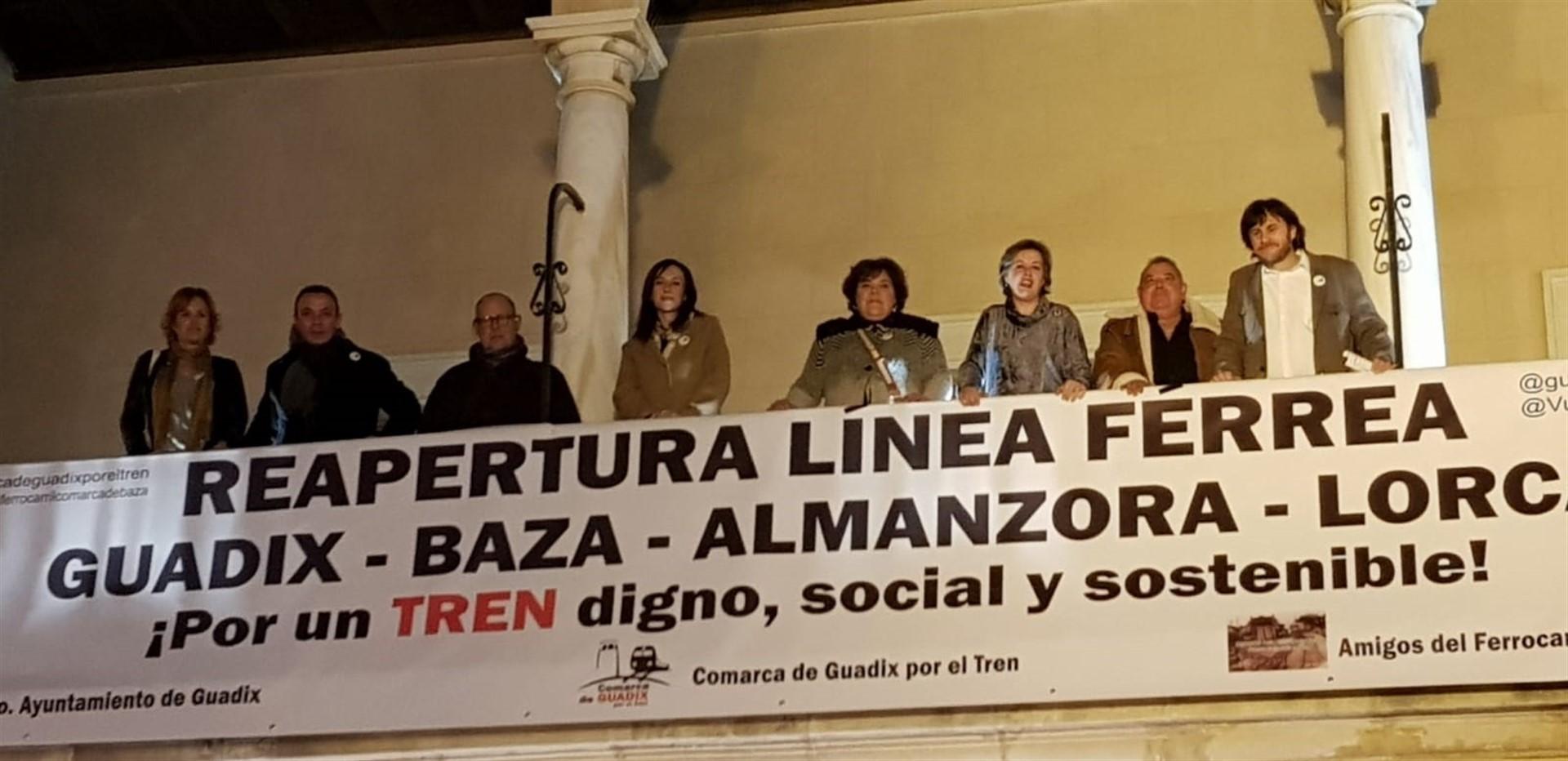 Colectivos ferroviarios de la España Vaciada reclaman el Estudio del tren Guadix Baza Almanzora Lorca