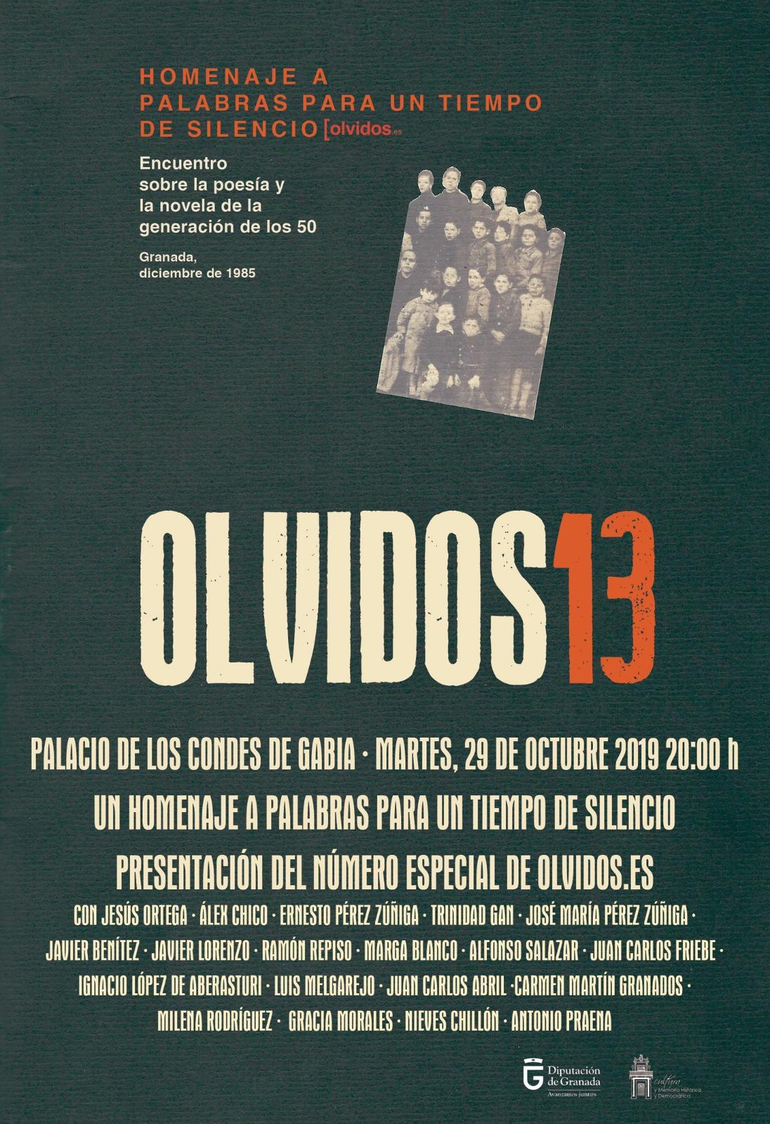 La Asociación Olvidos de Granada rinde homenaje a la Generación del 50