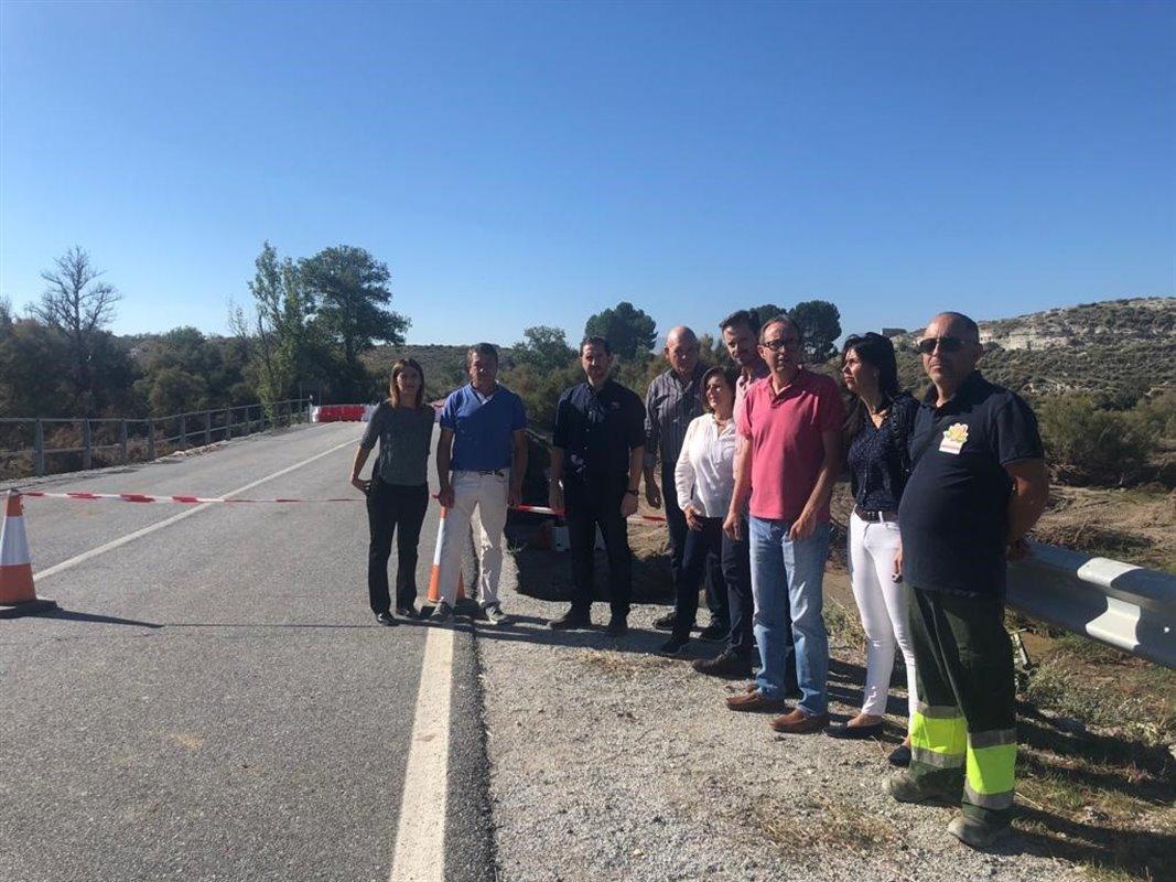 El PSOE pide «máxima celeridad» para construir el puente en la carretera de Benamaurel