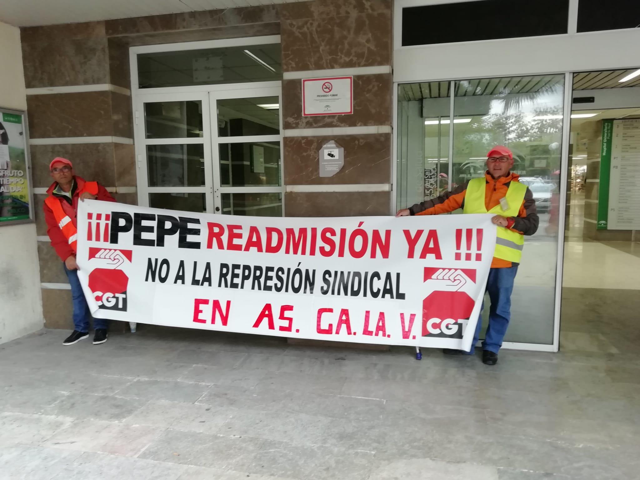 Huelga indefinida en el aparcamiento del Hospital de Puerto Real por el despido de un trabajador