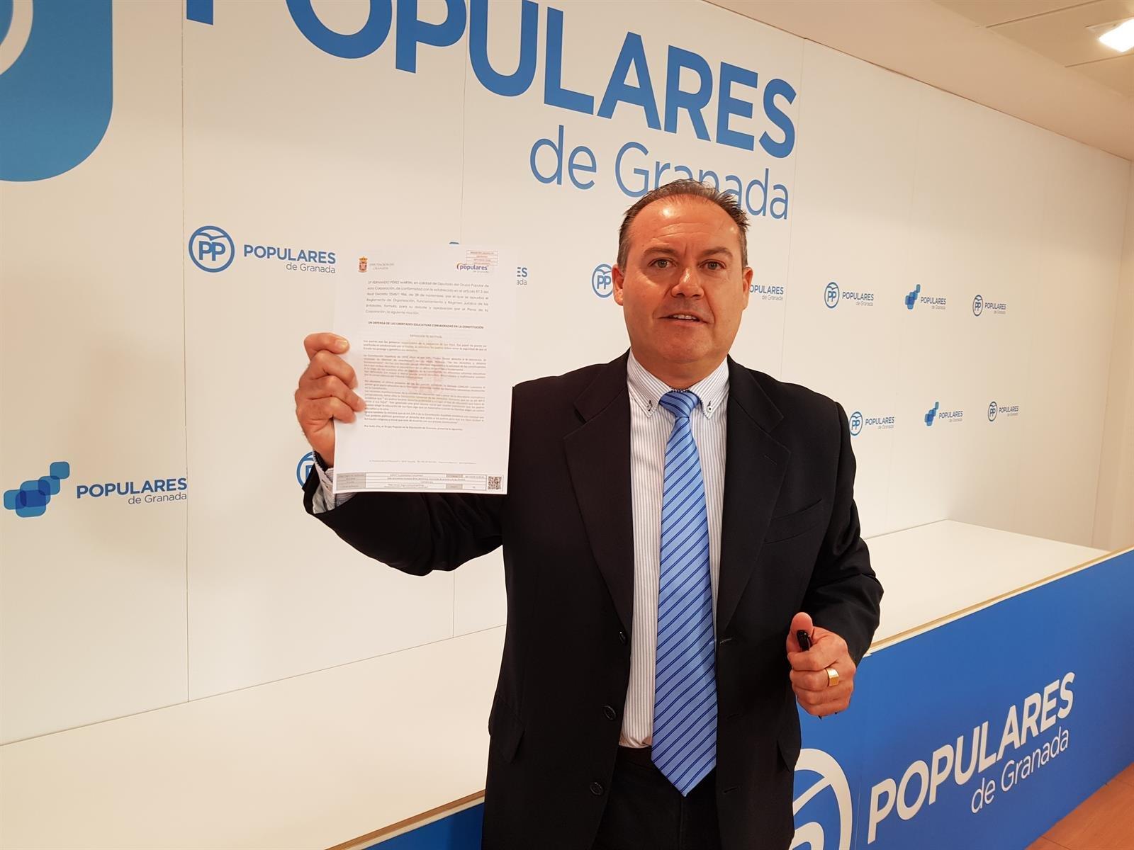 El PP defenderá en Diputación y ayuntamientos el derecho de padres a elegir la educación de sus hijos