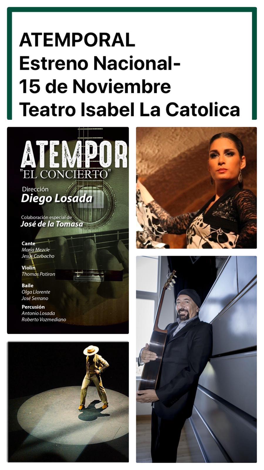 El Isabel la Católica acoge el estreno nacional de Atemporal, de Diego Losada