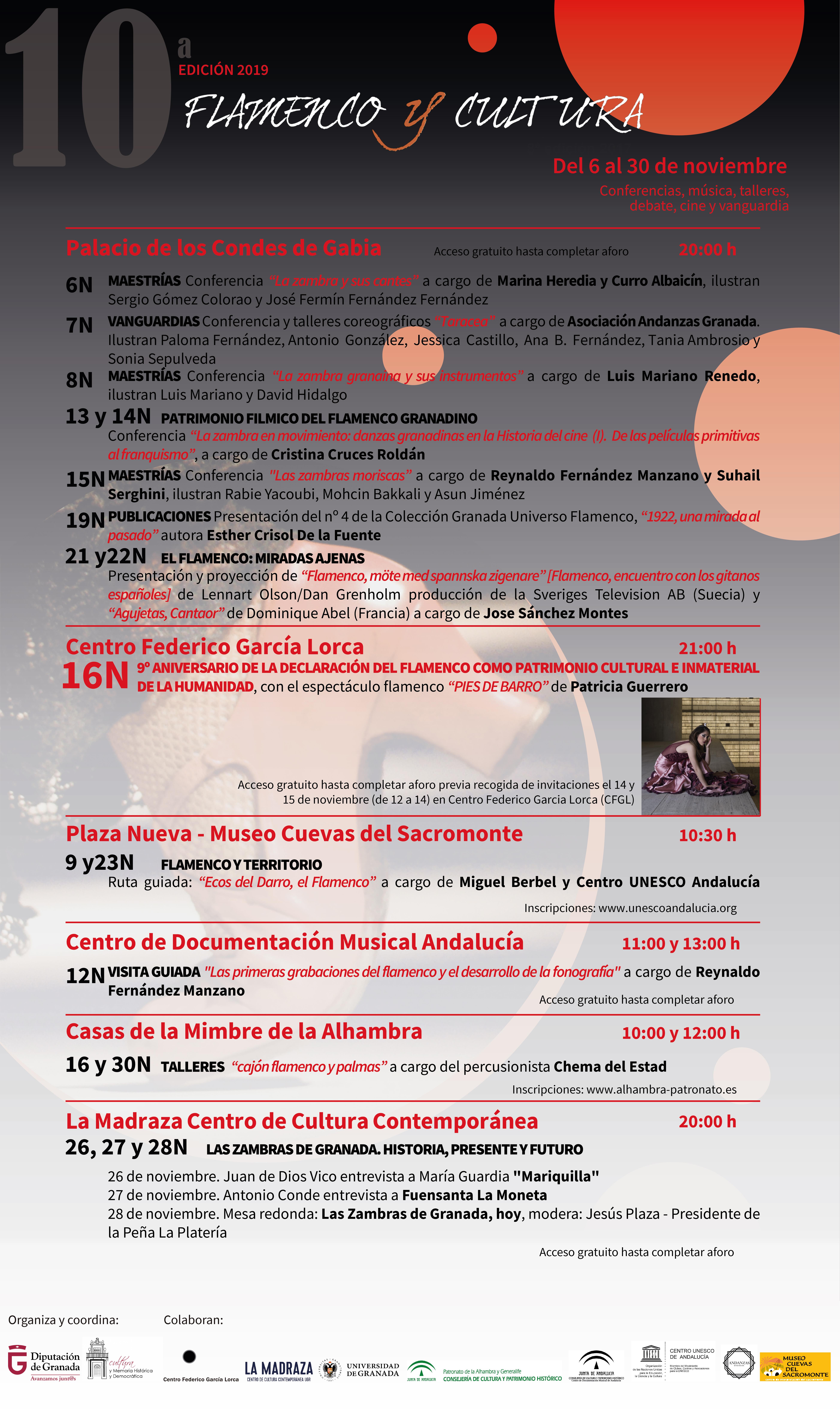 El ciclo Flamenco y Cultura de la Diputación Cumple 10 años