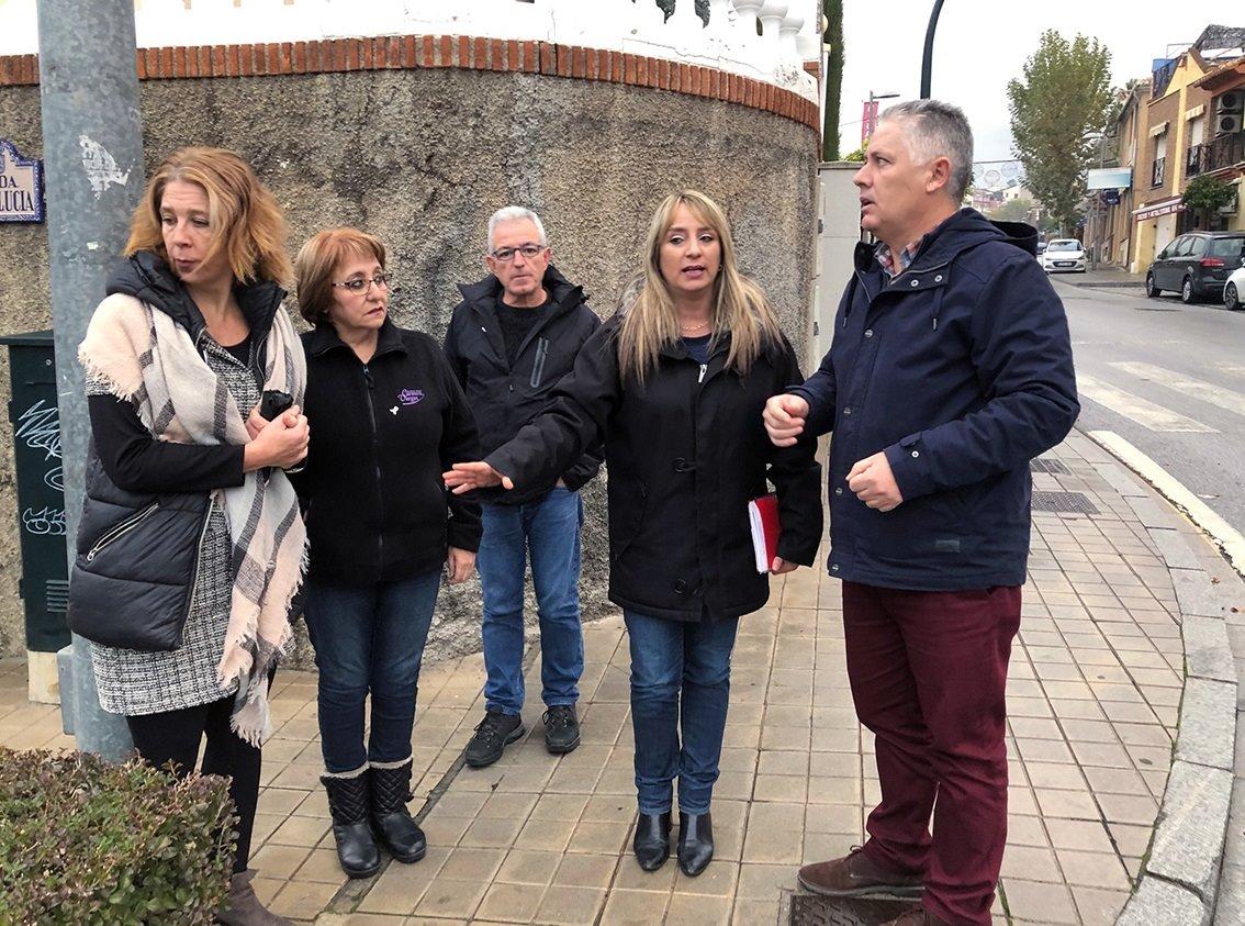 El PSOE denuncia el «desinterés» del alcalde de Huétor Vega para solucionar una intersección peligrosa