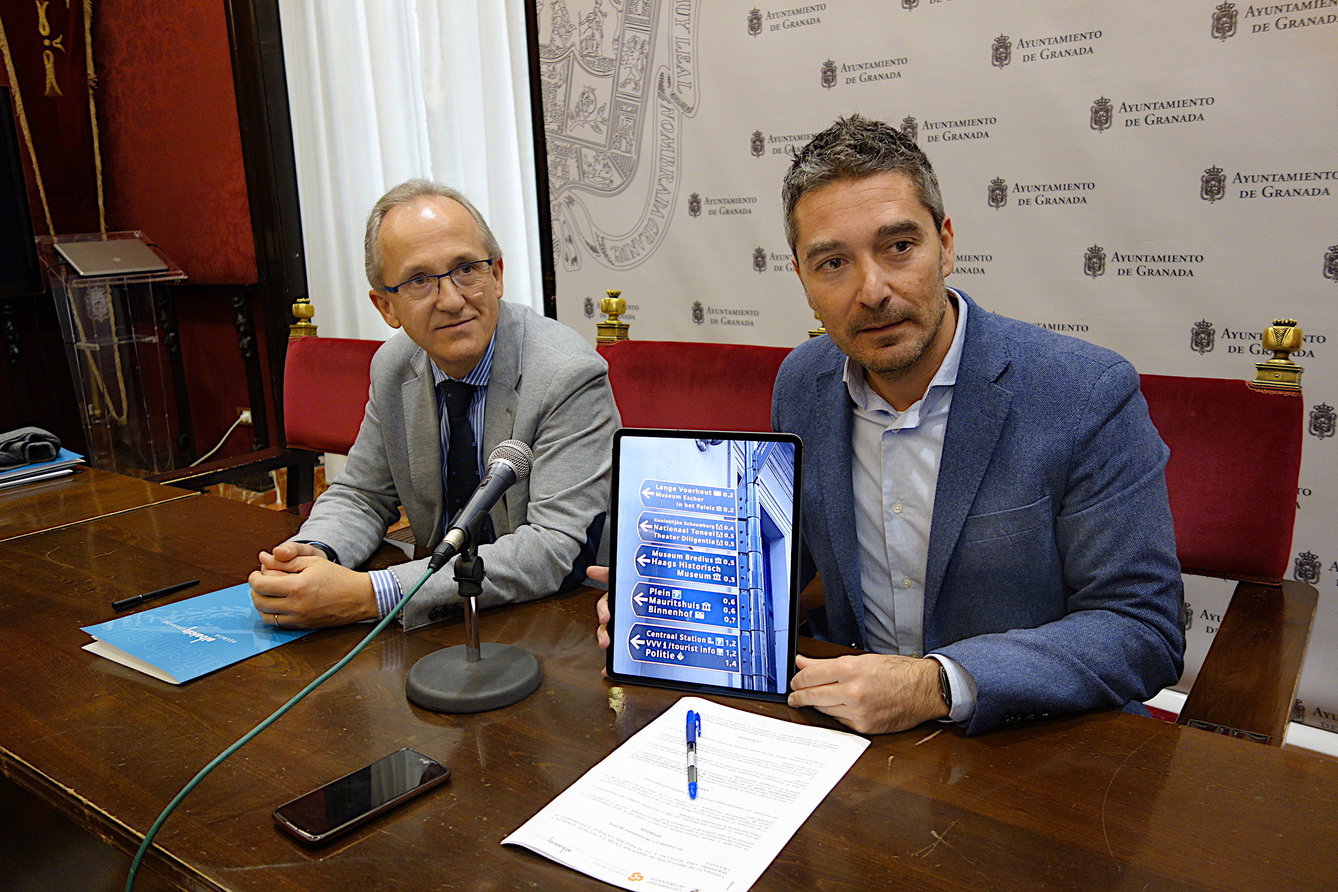 Ayuntamiento y UGR se unen para embellecer el casco histórico con señalética europea