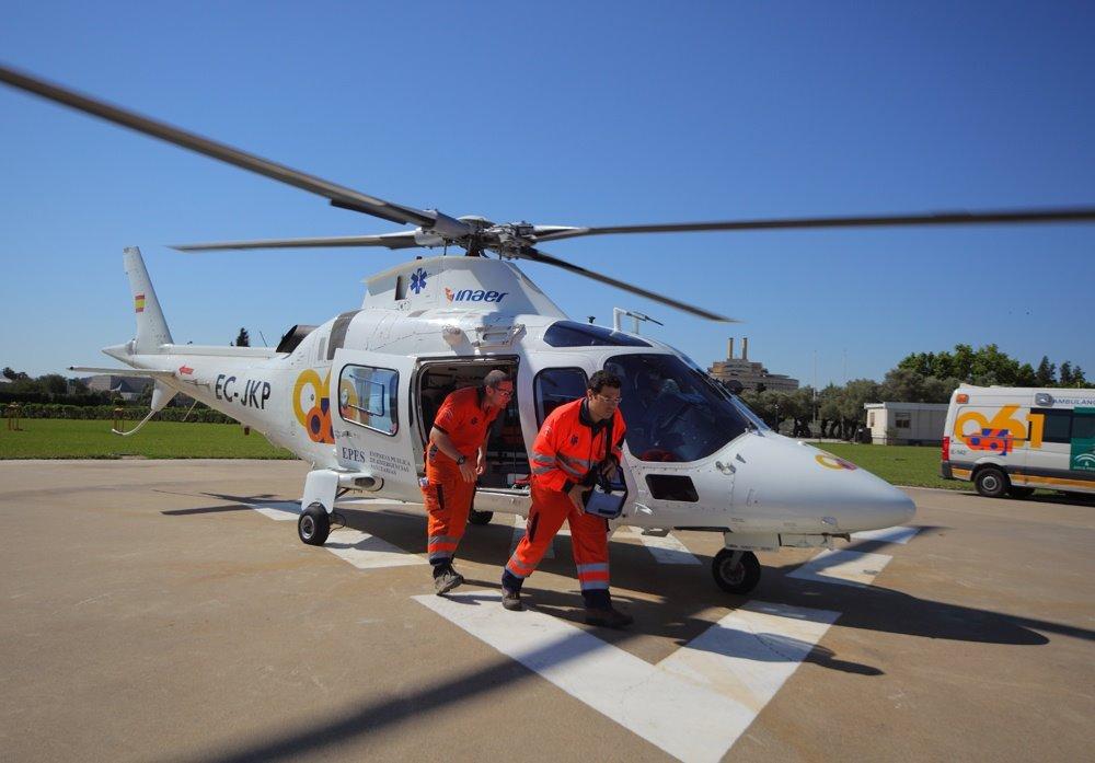 Evacuado en helicóptero un accidentado haciendo montañismo en sierra Elvira