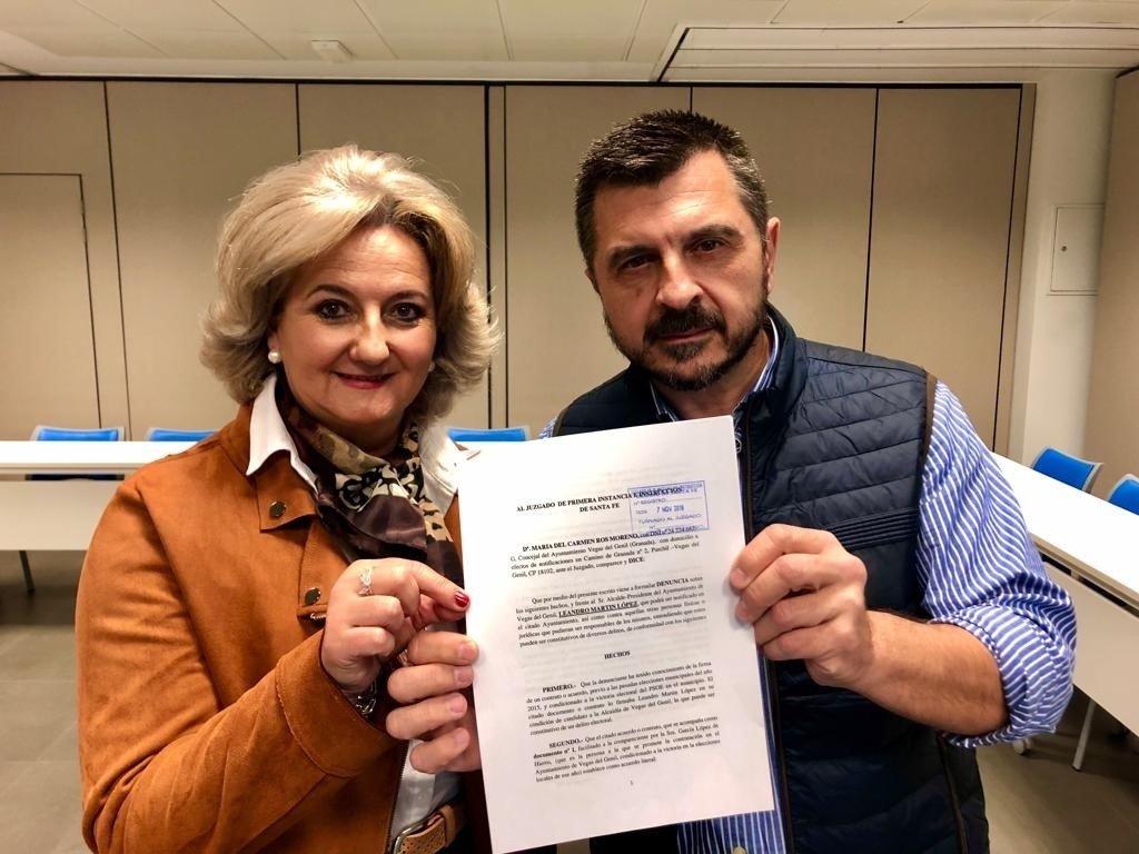 El PP denuncia en el juzgado la supuesta compra de votos del alcalde socialista de Vegas del Genil