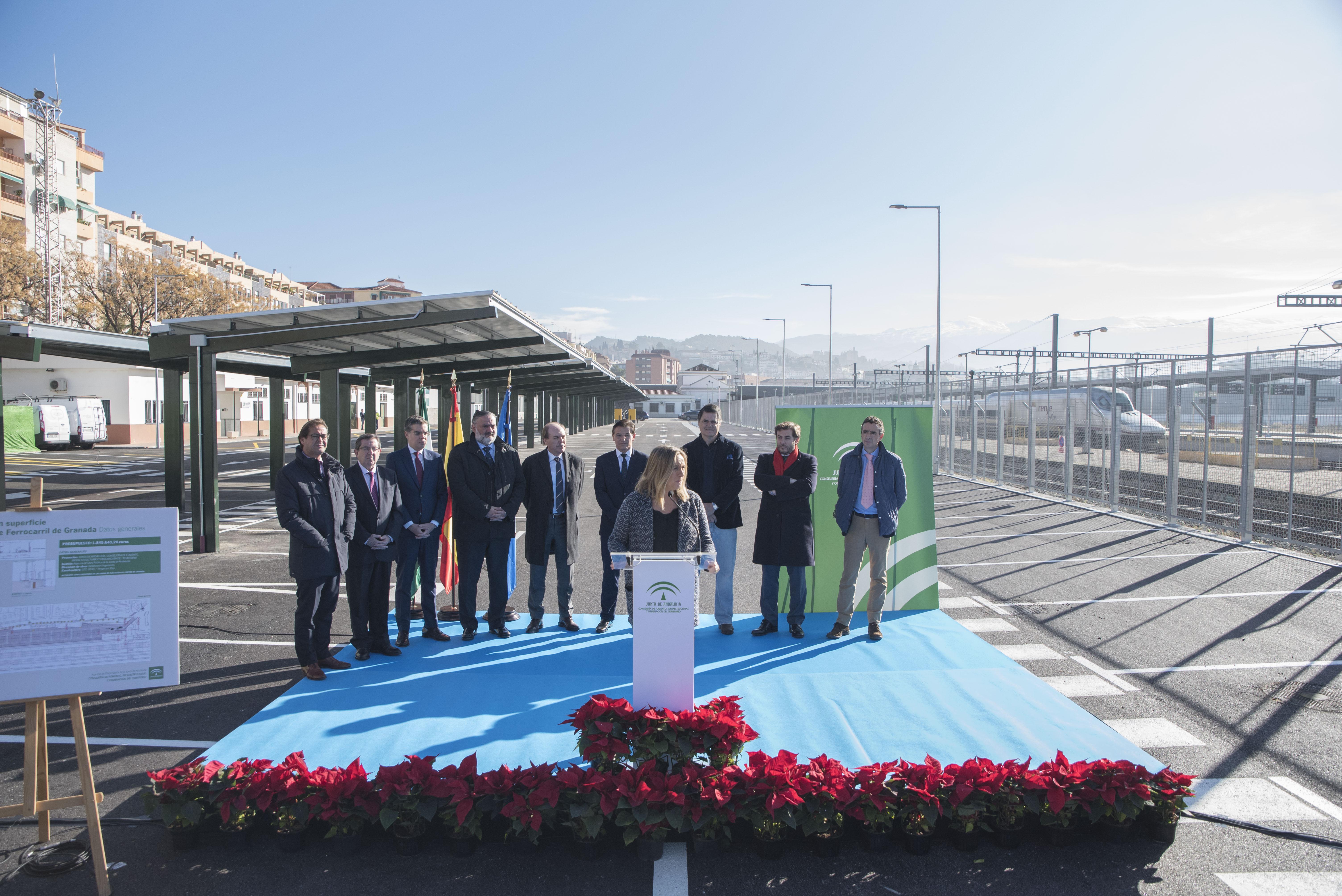 Inaugurado el aparcamiento en la estación del AVE de Granada tras 1.8 millones de inversión